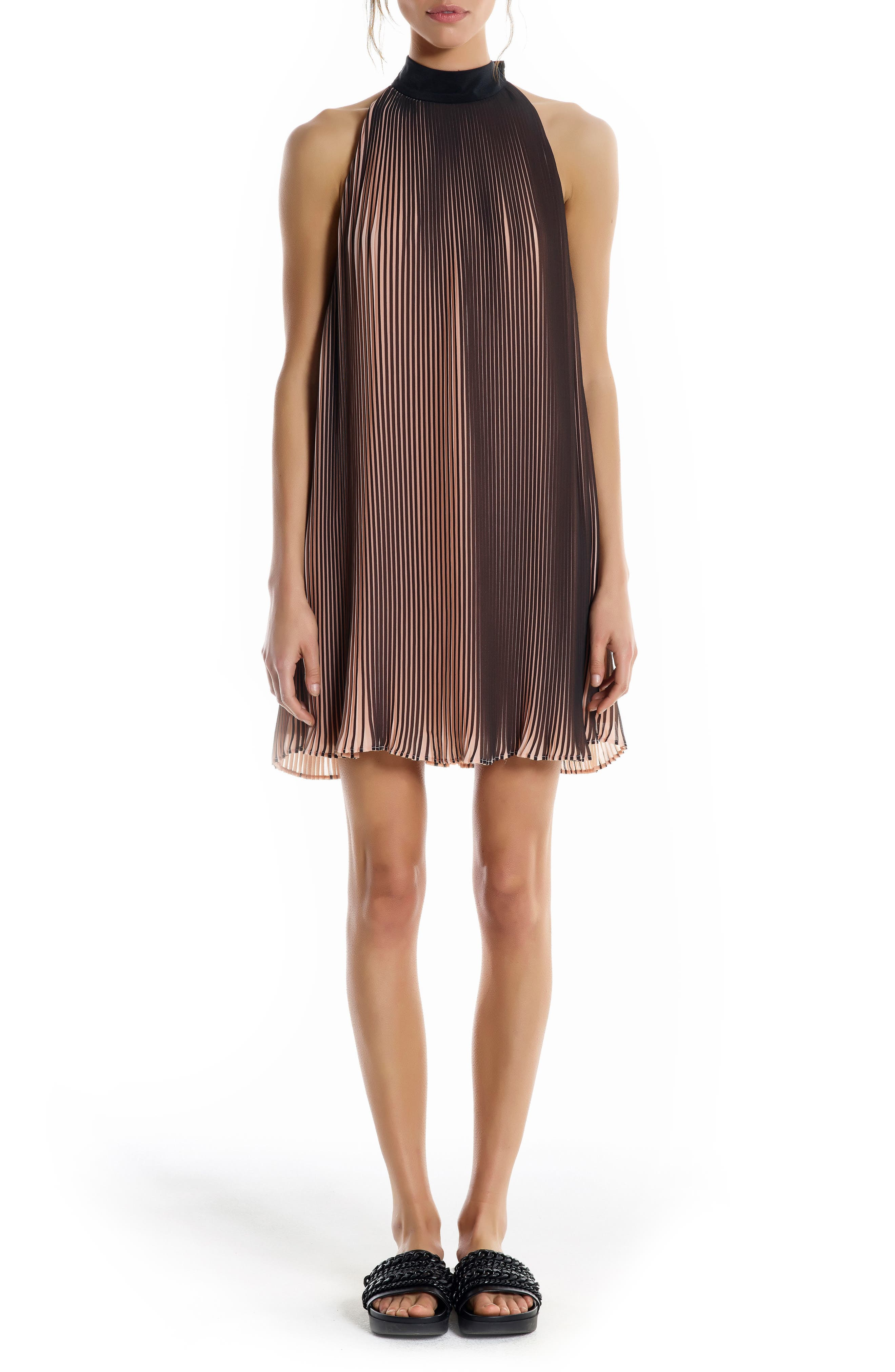 KENDALL + KYLIE Pleated Trapeze Dress