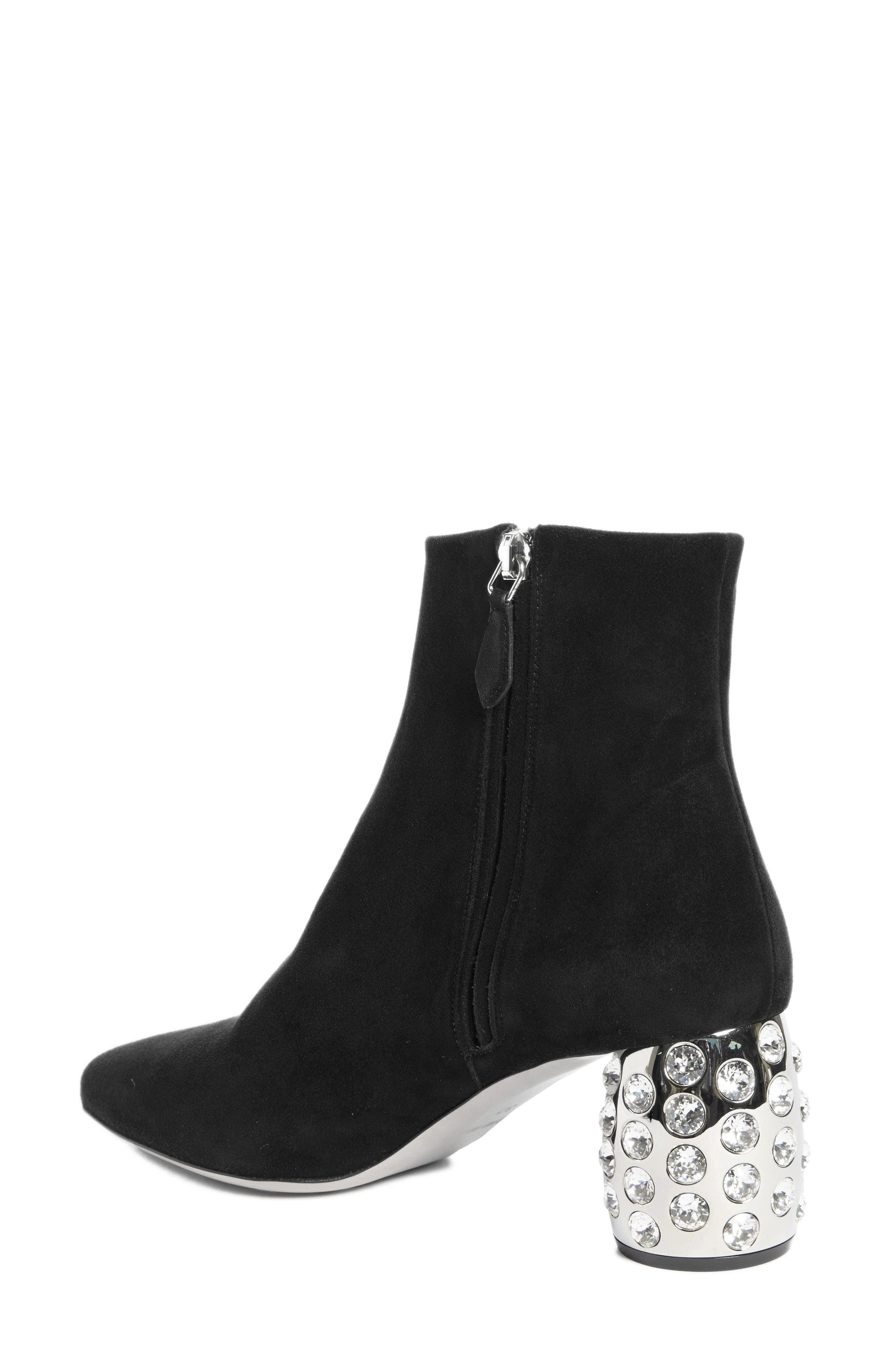 Alternate Image 2  - Miu Miu Embellished Block Heel Boot (Women)