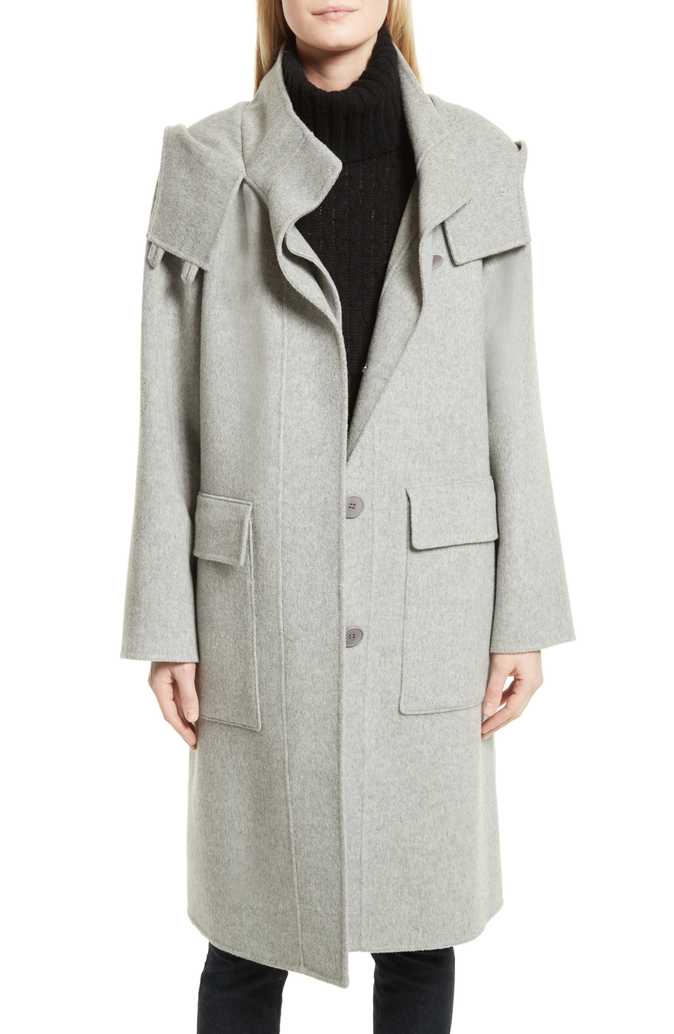 Main Image - Theory New Divide Duffle Wool & Cashmere Coat
