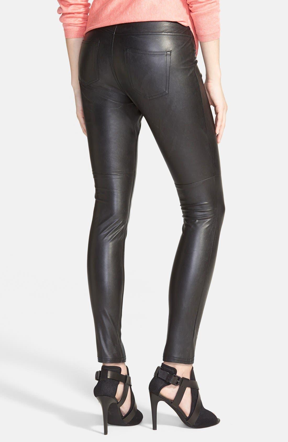 Alternate Image 2  - Hue Faux Leather Leggings