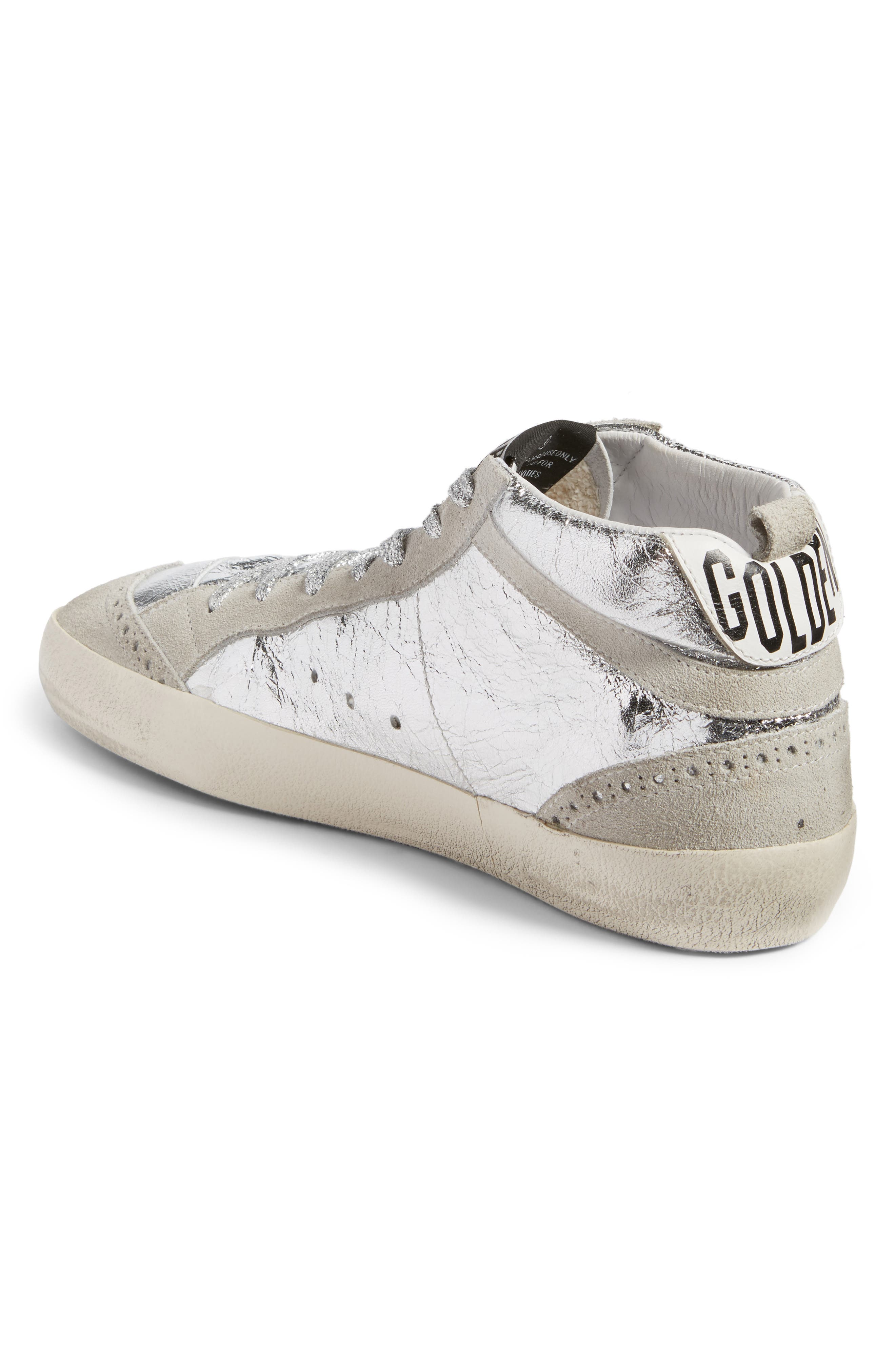Alternate Image 2  - Golden Goose Mid Star Metallic Sneaker (Women)