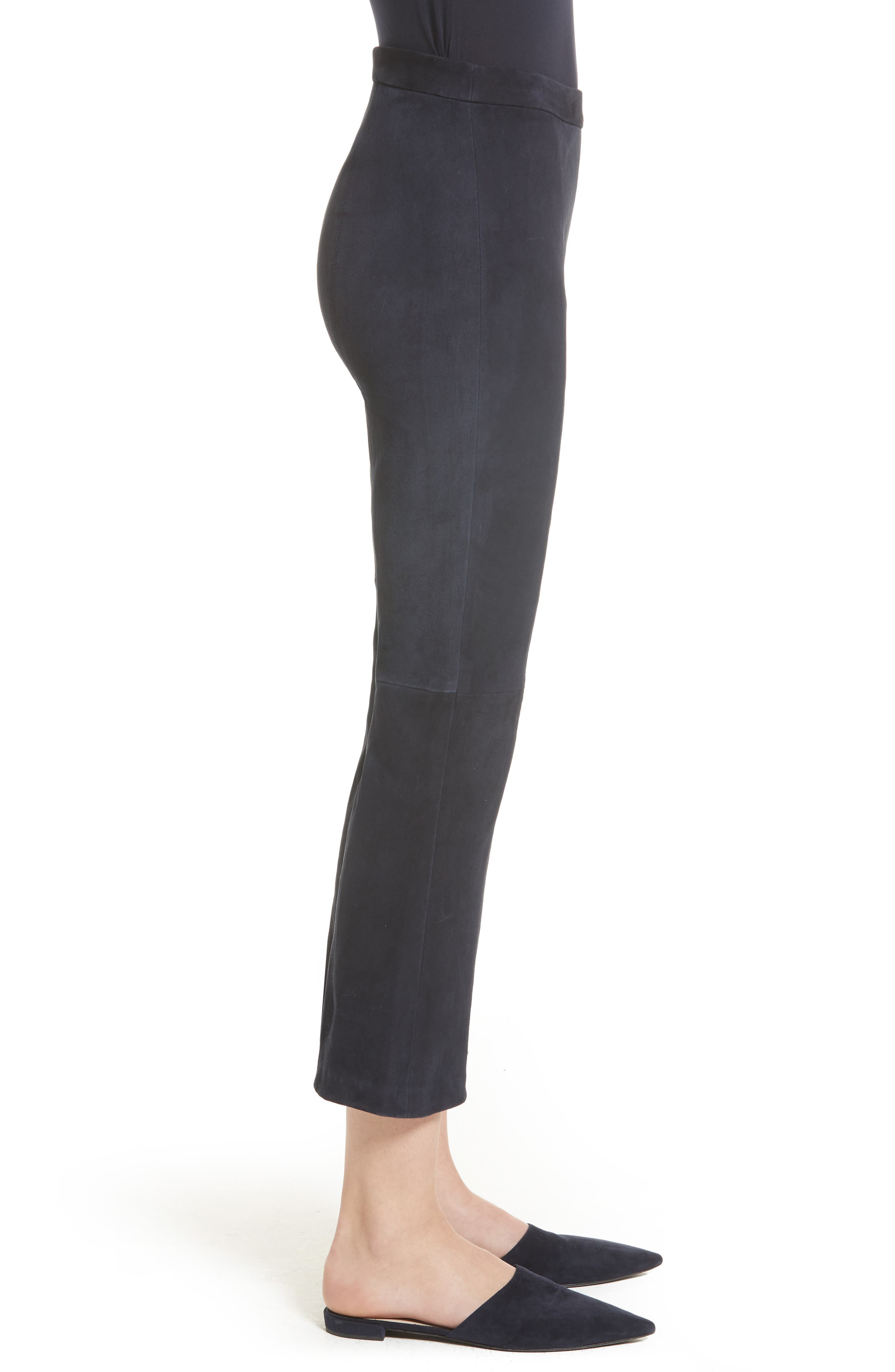Alternate Image 3  - St. John Collection Stretch Suede Capri Pants