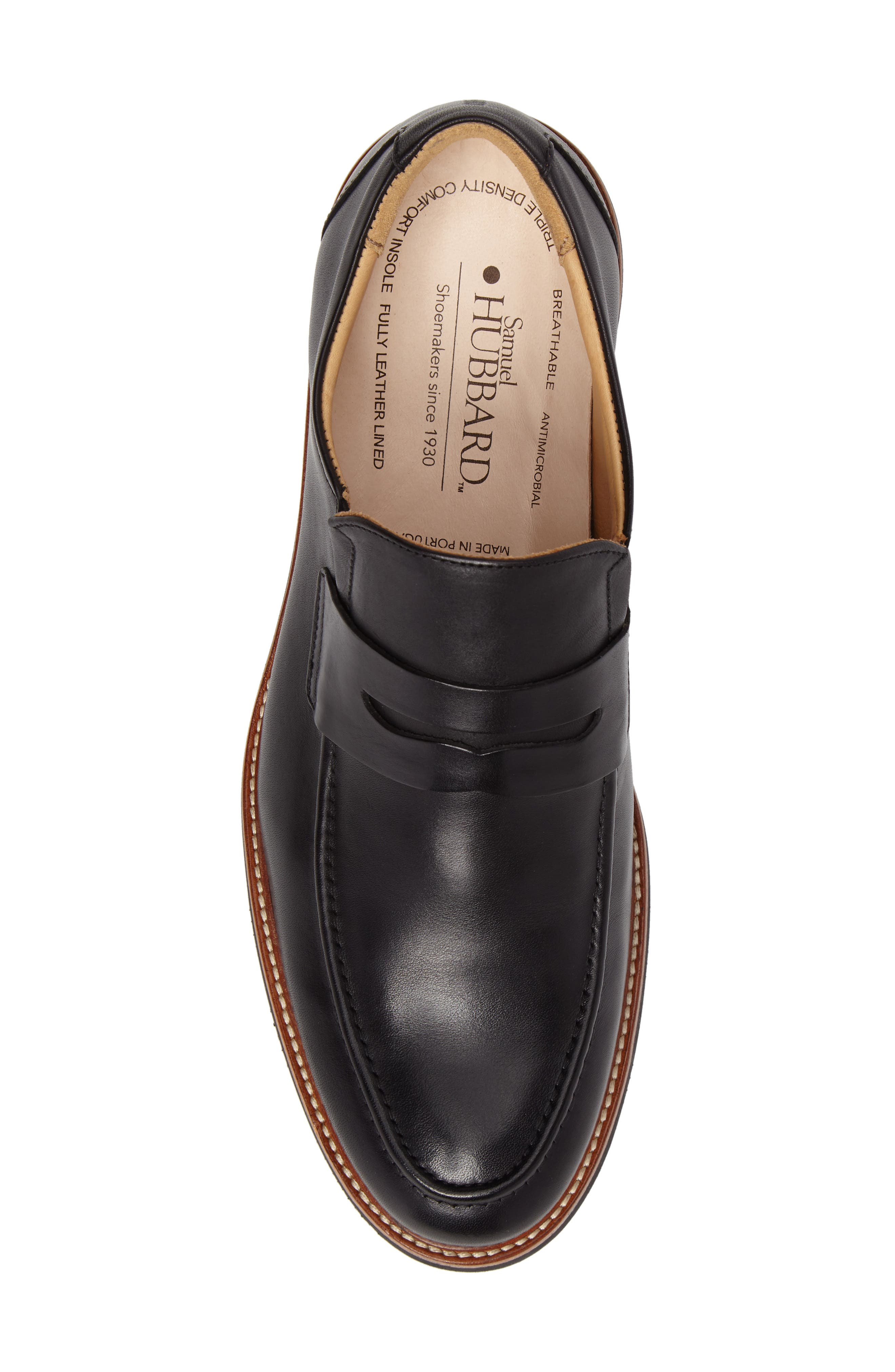 Ivy Legend Penny Loafer,                             Alternate thumbnail 5, color,                             Black Full Grain