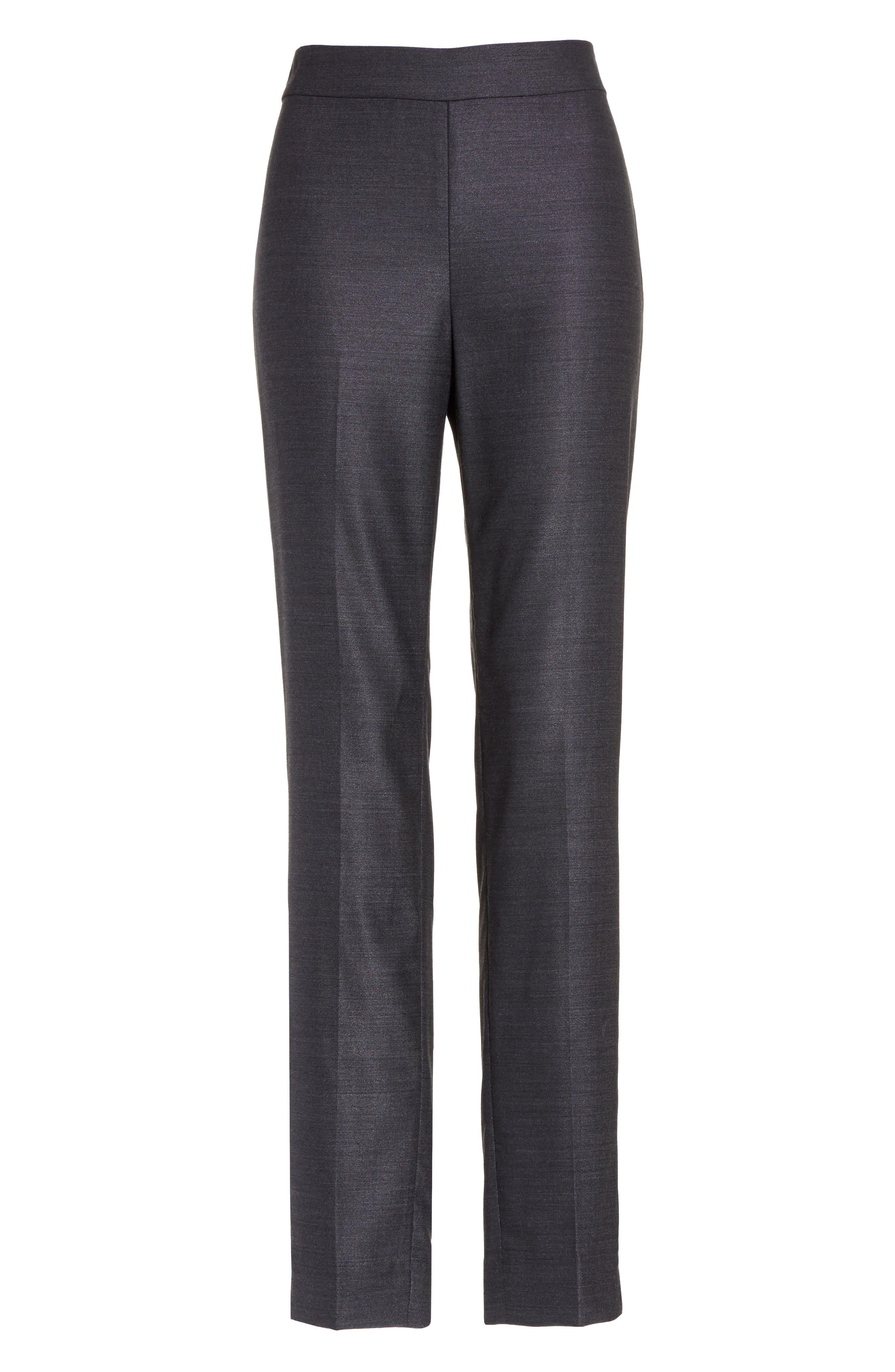 Alternate Image 6  - St. John Collection Stretch Birdseye Skinny Pants