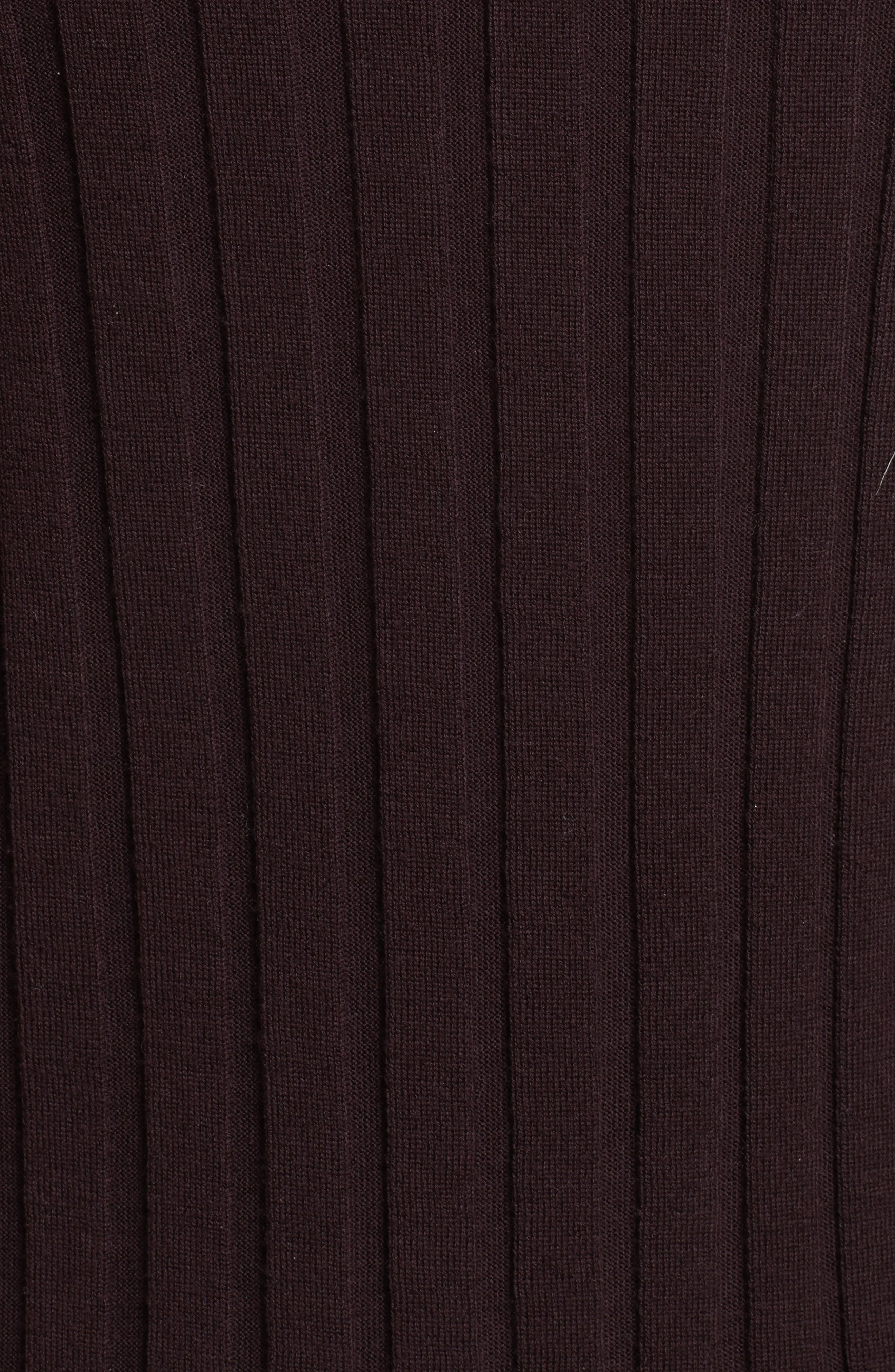 Alternate Image 5  - Theory Wide Ribbed Mock Neck Wool Sweater