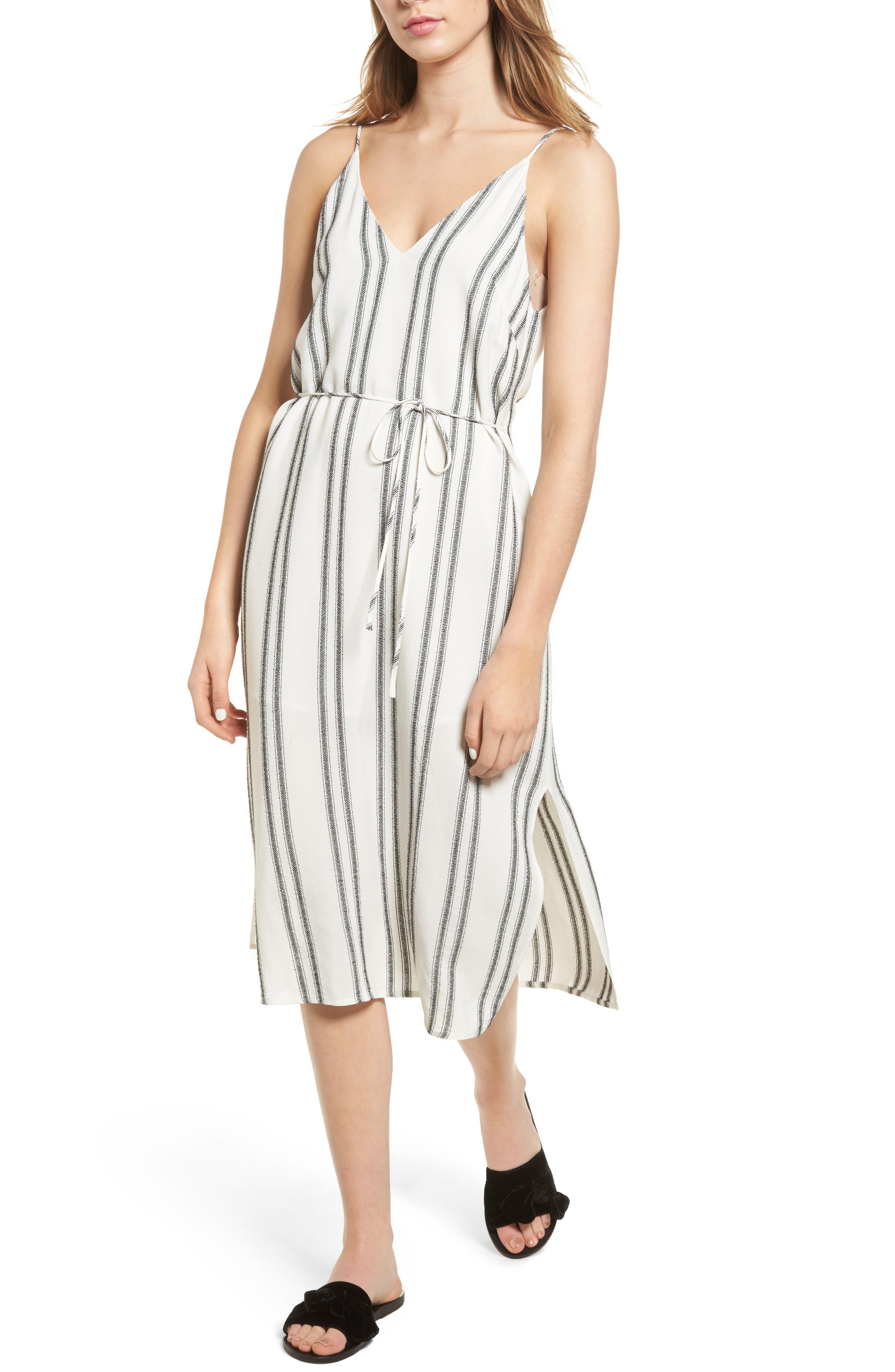 ASTR the Label Estrella Stripe Midi Dress