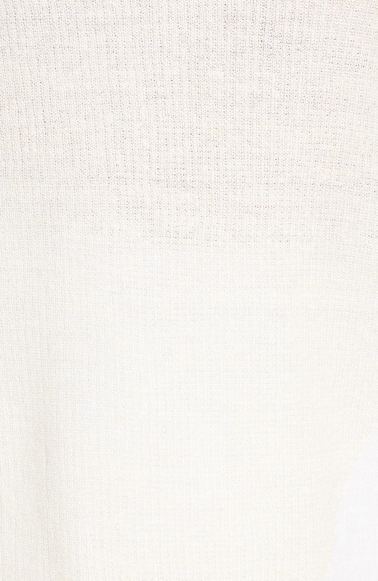 Sunlight Chiffon Trim Linen Blend Sweater,                             Alternate thumbnail 5, color,                             Multi
