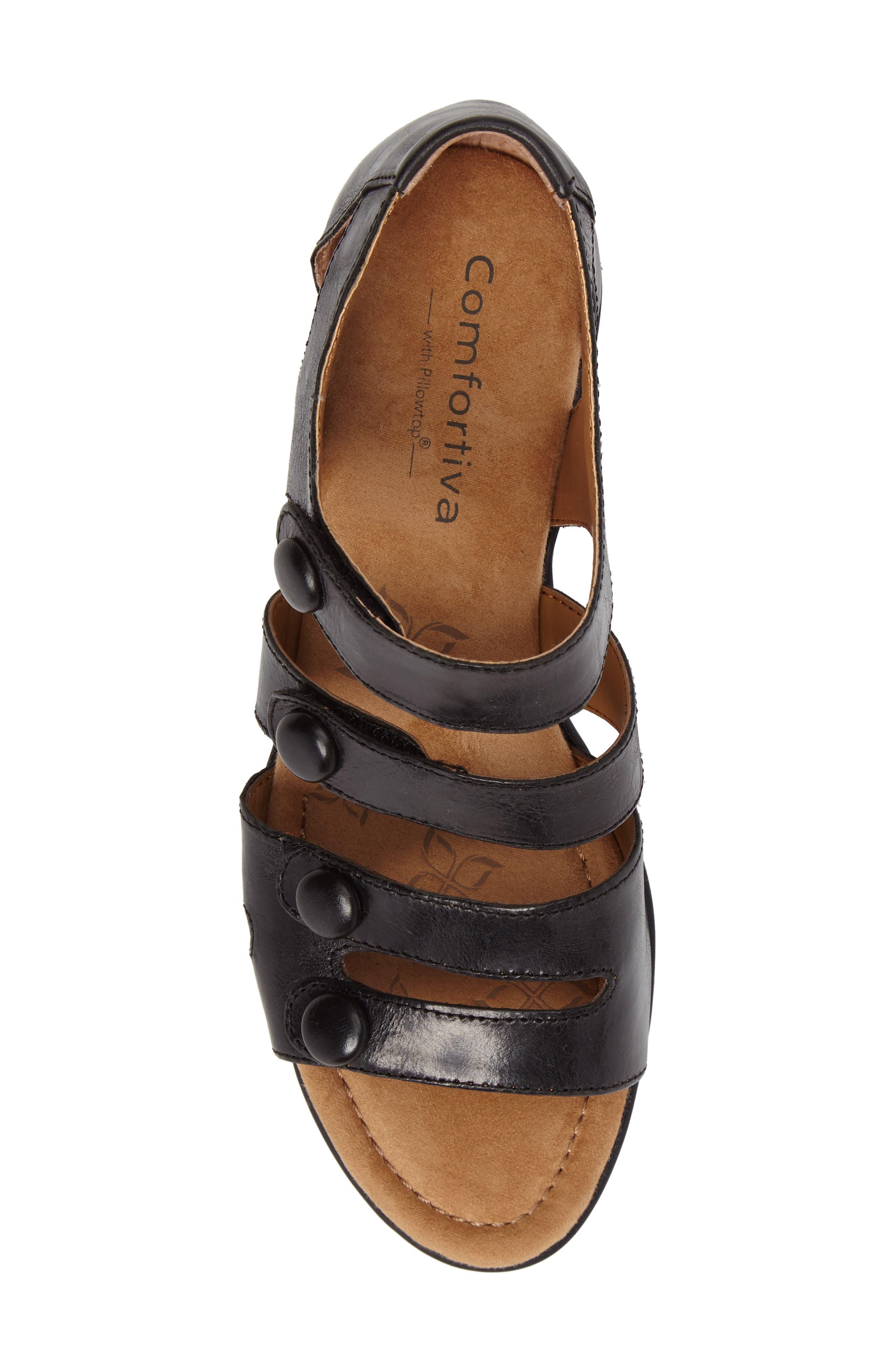 Reading Sandal,                             Alternate thumbnail 3, color,                             Black Leather