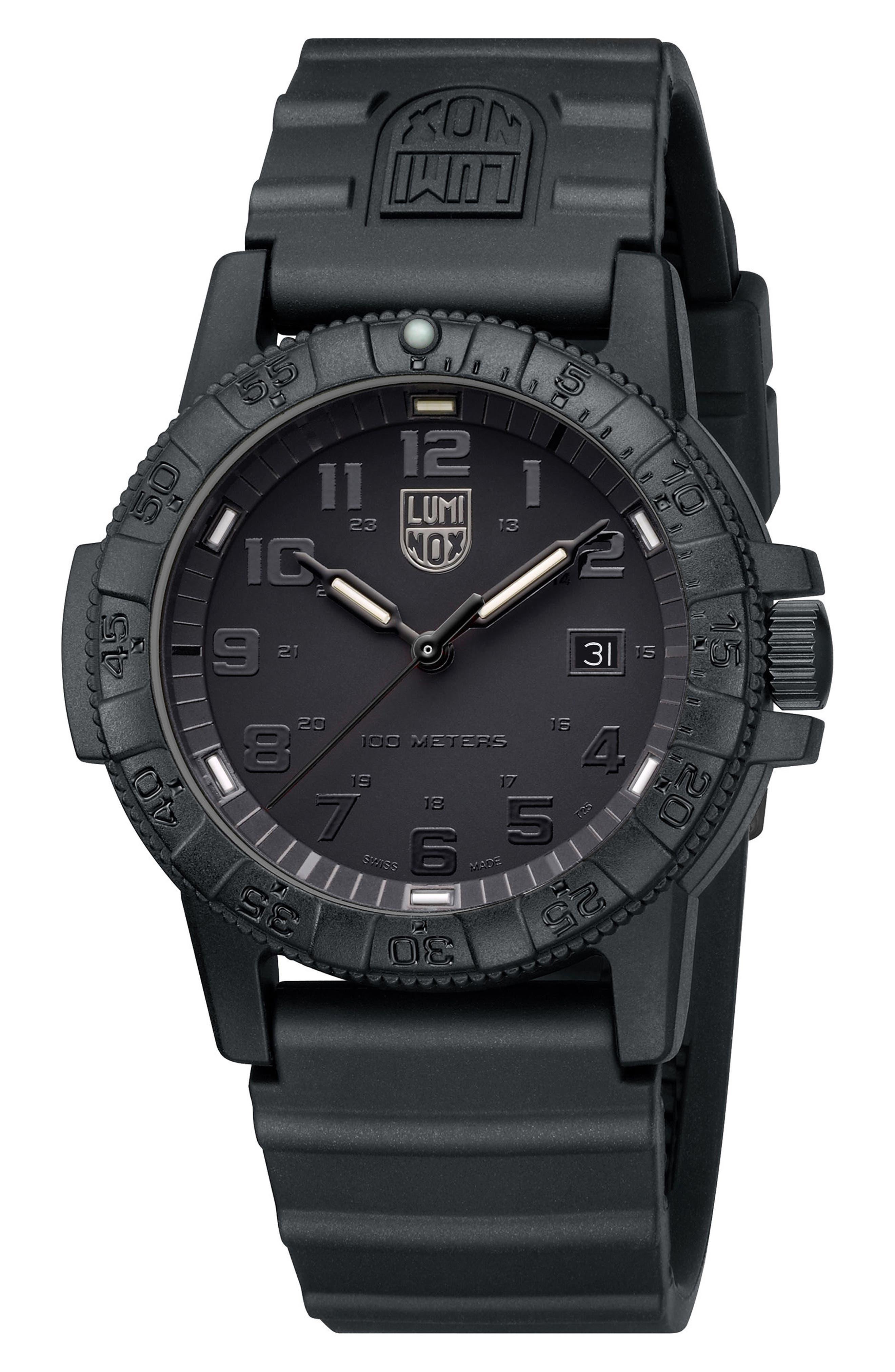 Alternate Image 3  - Luminox Sea Turtle 0320 Polyurethane Strap Watch, 44mm