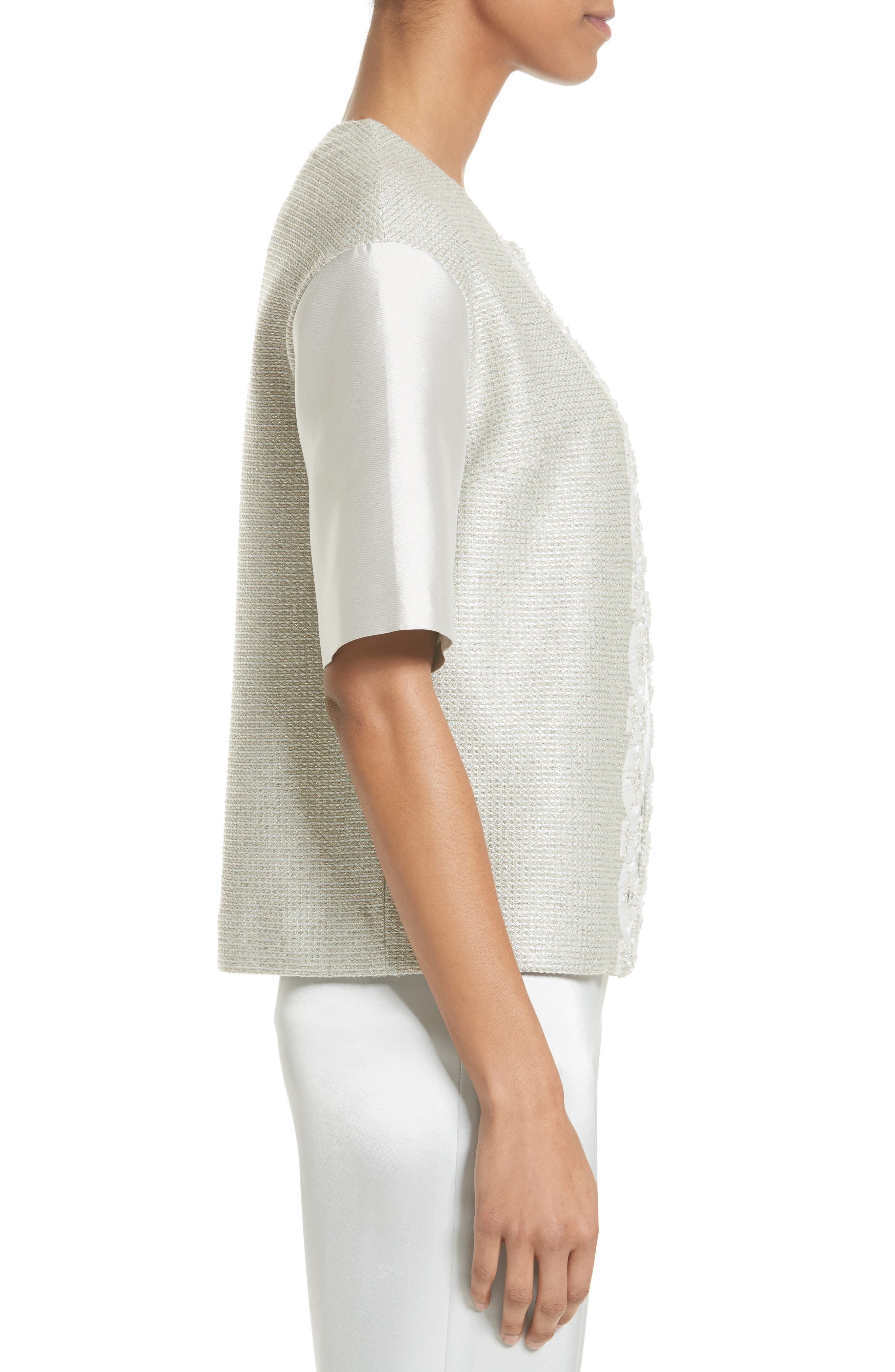 Alternate Image 3  - St. John Collection Beaded Jasmine Sparkle Knit Jacket