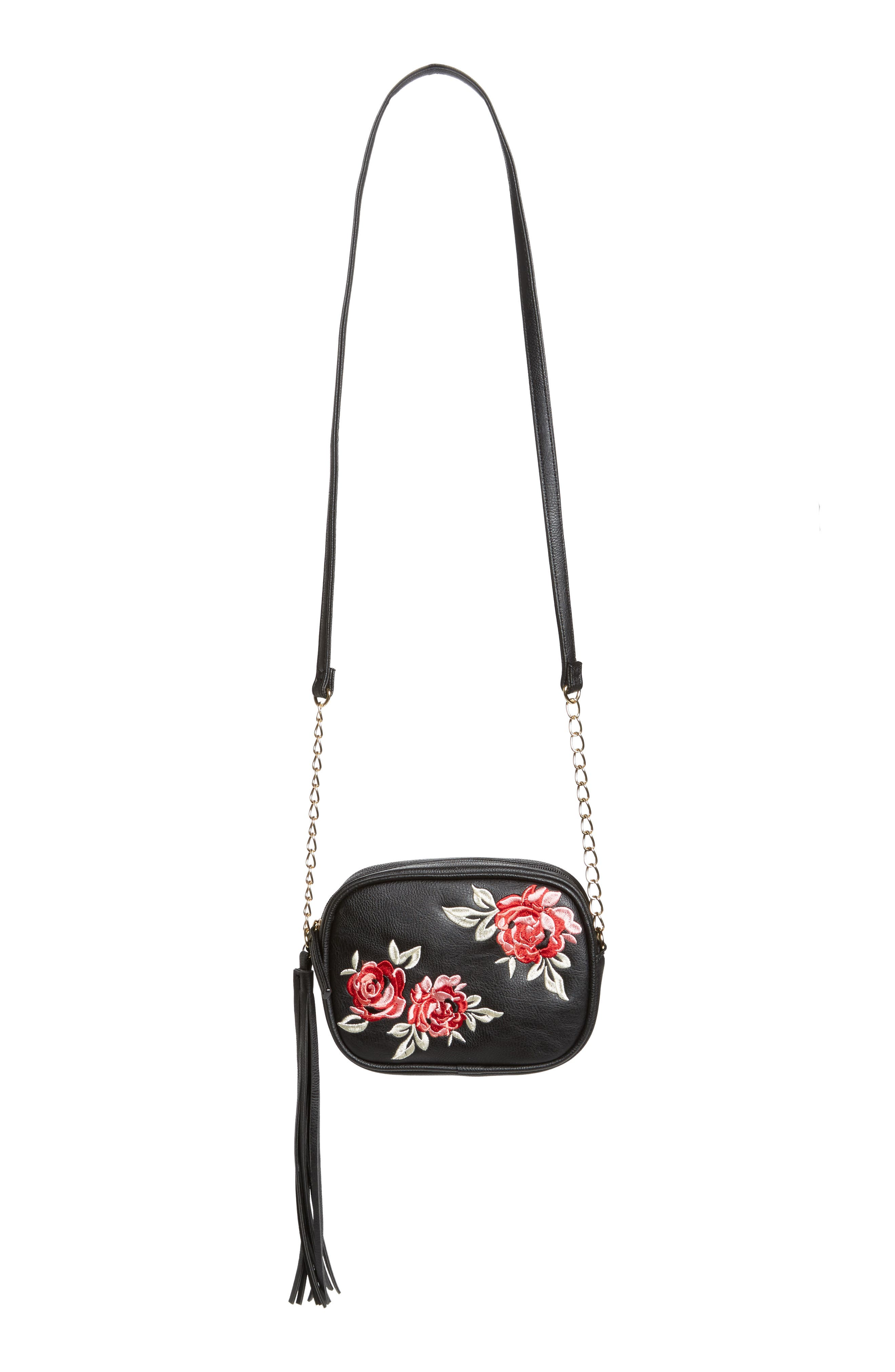 OMG Rose Embroidery Crossbody Bag (Girls)