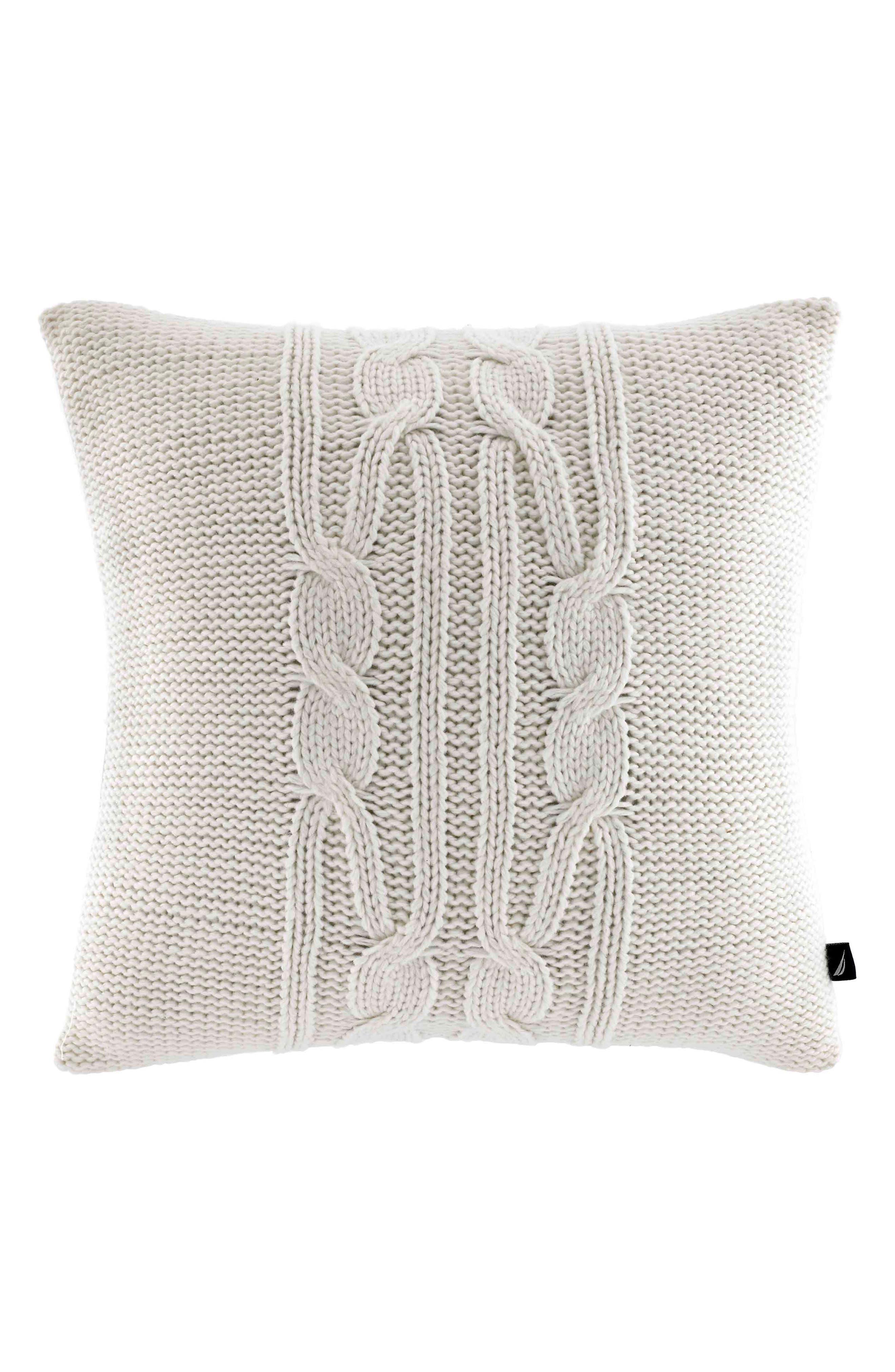 Alternate Image 1 Selected - Nautica Bartlett Knit Pillow