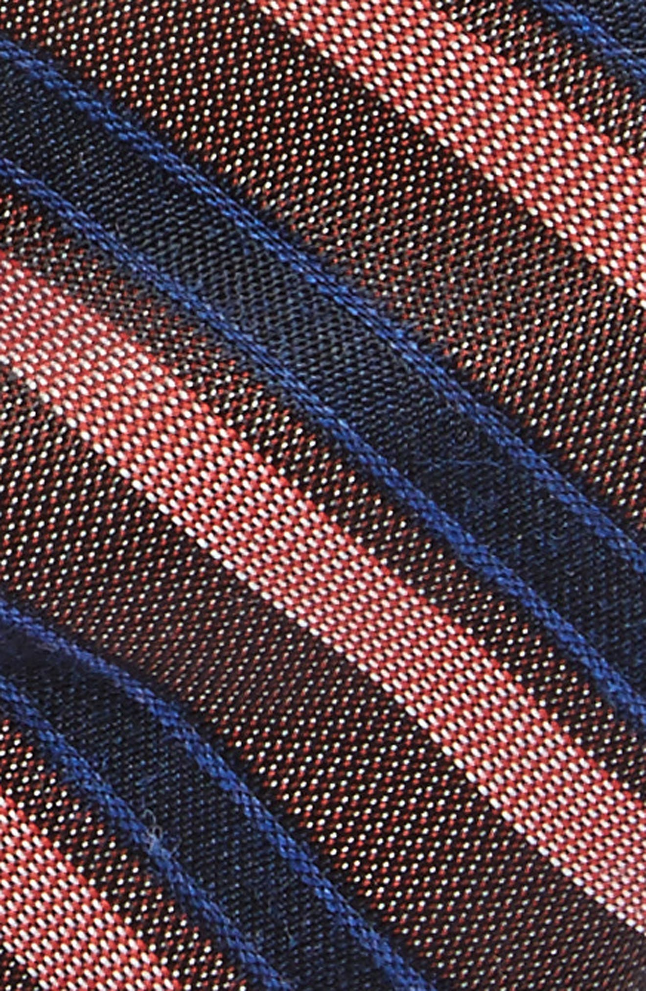 Stripe Silk Bow Tie,                             Alternate thumbnail 2, color,                             Melon