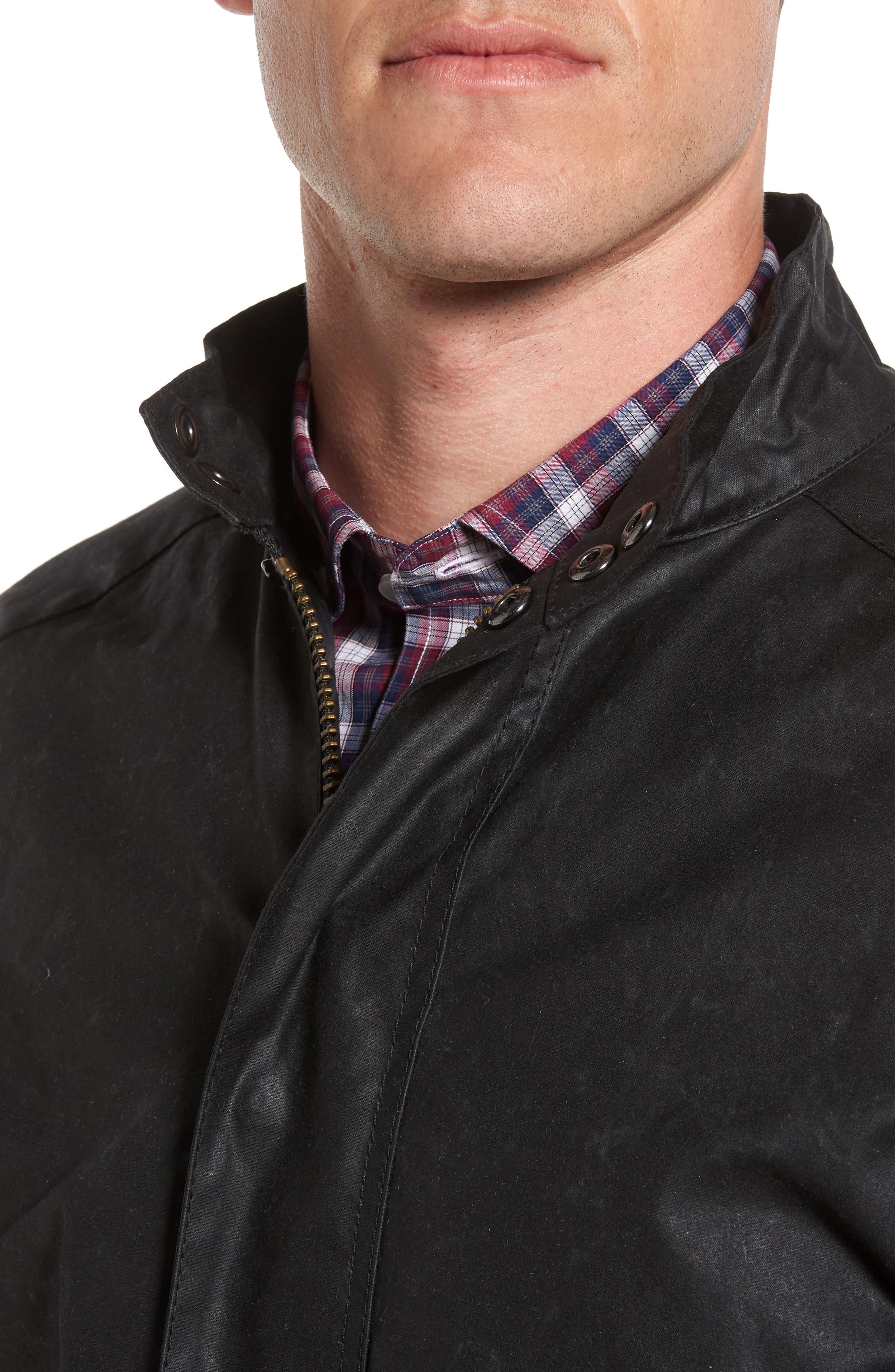 Chrome Slim Fit Water Repellent Jacket,                             Alternate thumbnail 4, color,                             Black