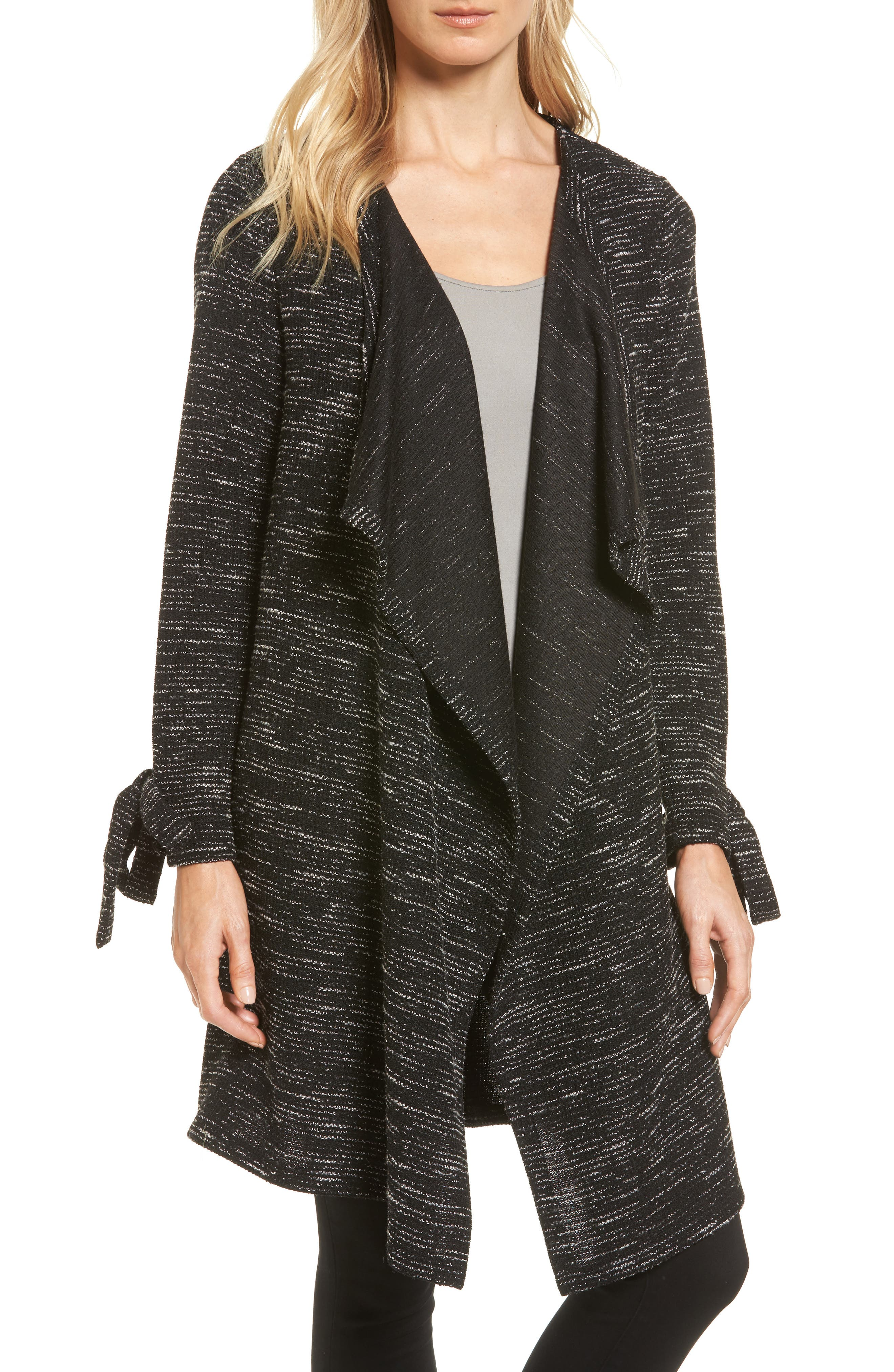 Pleione Tie Sleeve Long Cardigan (Regular & Petite)