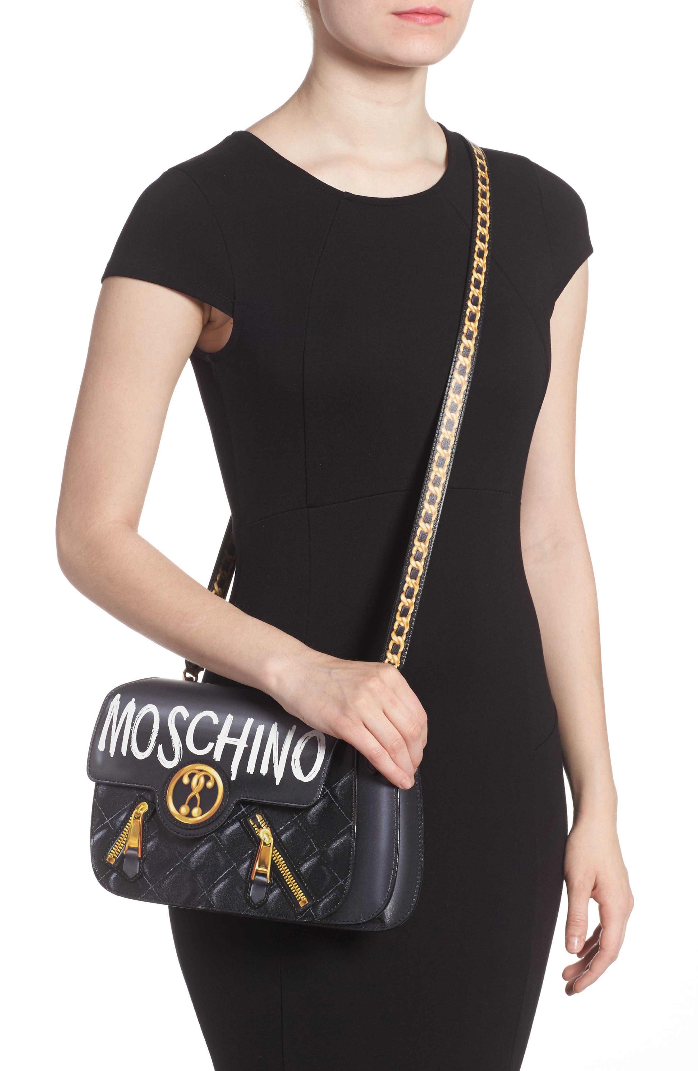 Alternate Image 2  - Moschino 2-D Graffiti Logo Shoulder Bag