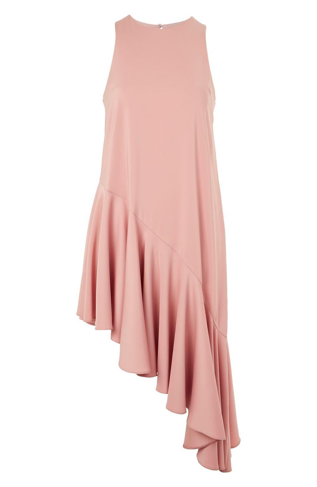 Alternate Image 4  - Topshop Ruffle Asymmetrical Midi Dress