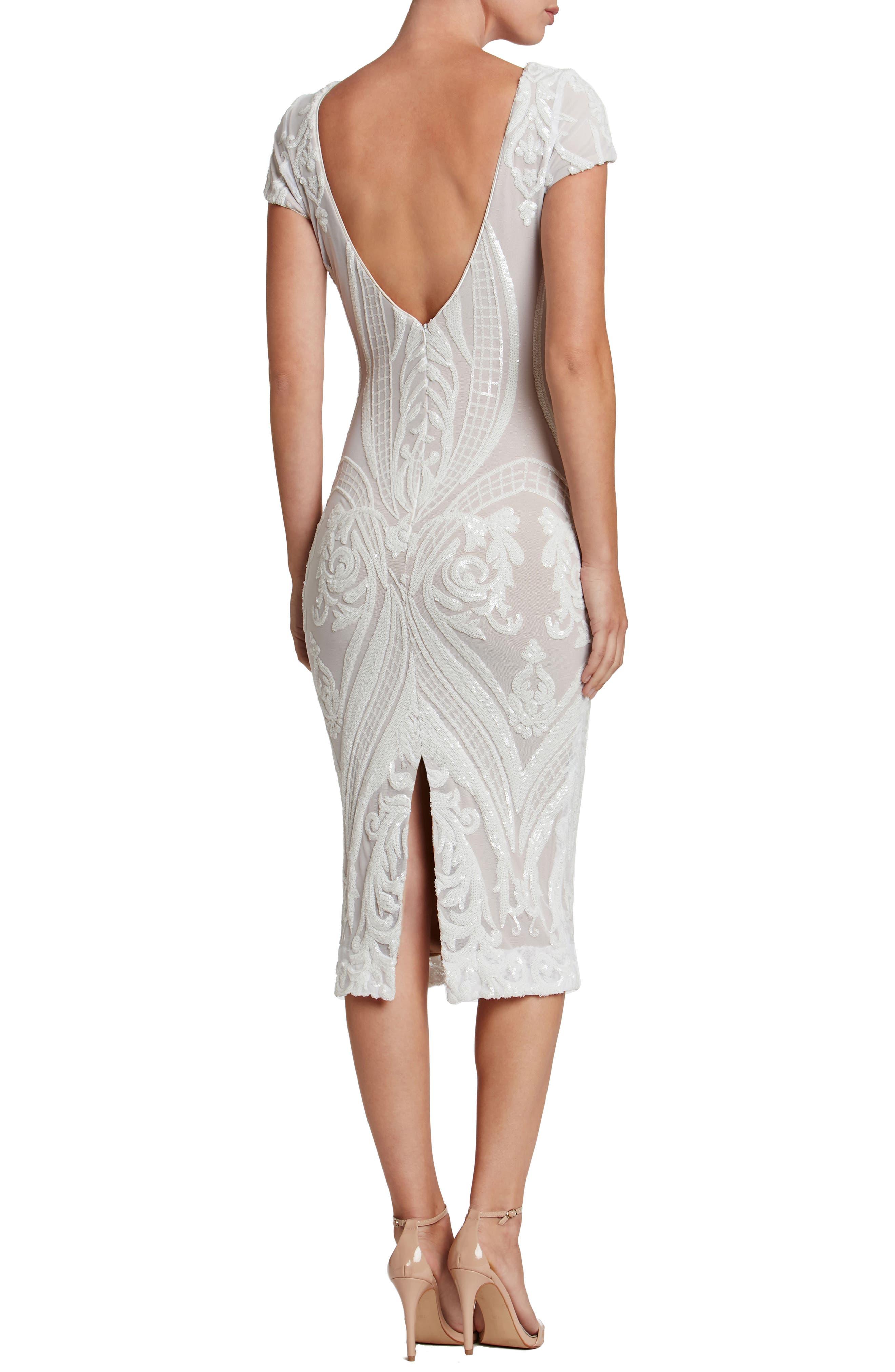 Alternate Image 3  - Dress the Population Brandi Sequin Body-Con Dress