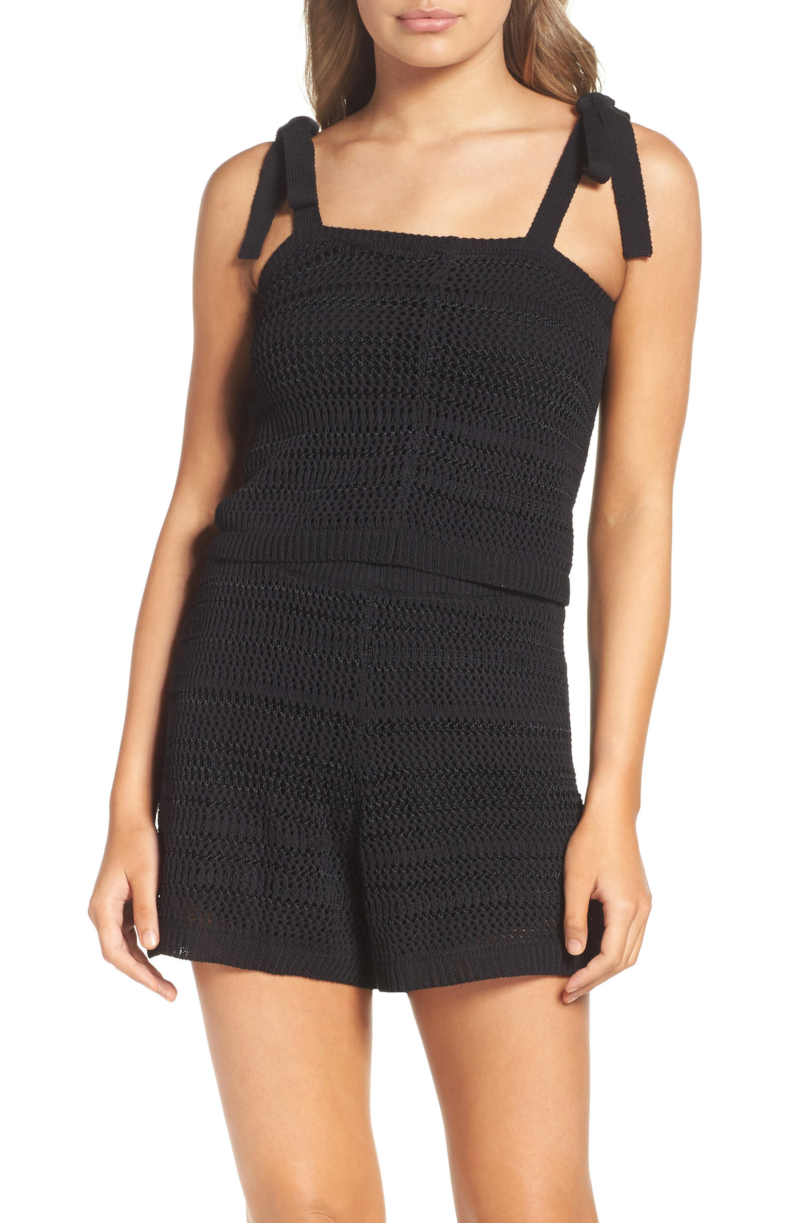Toes in the Sand Two-Piece Romper,                         Main,                         color, Black