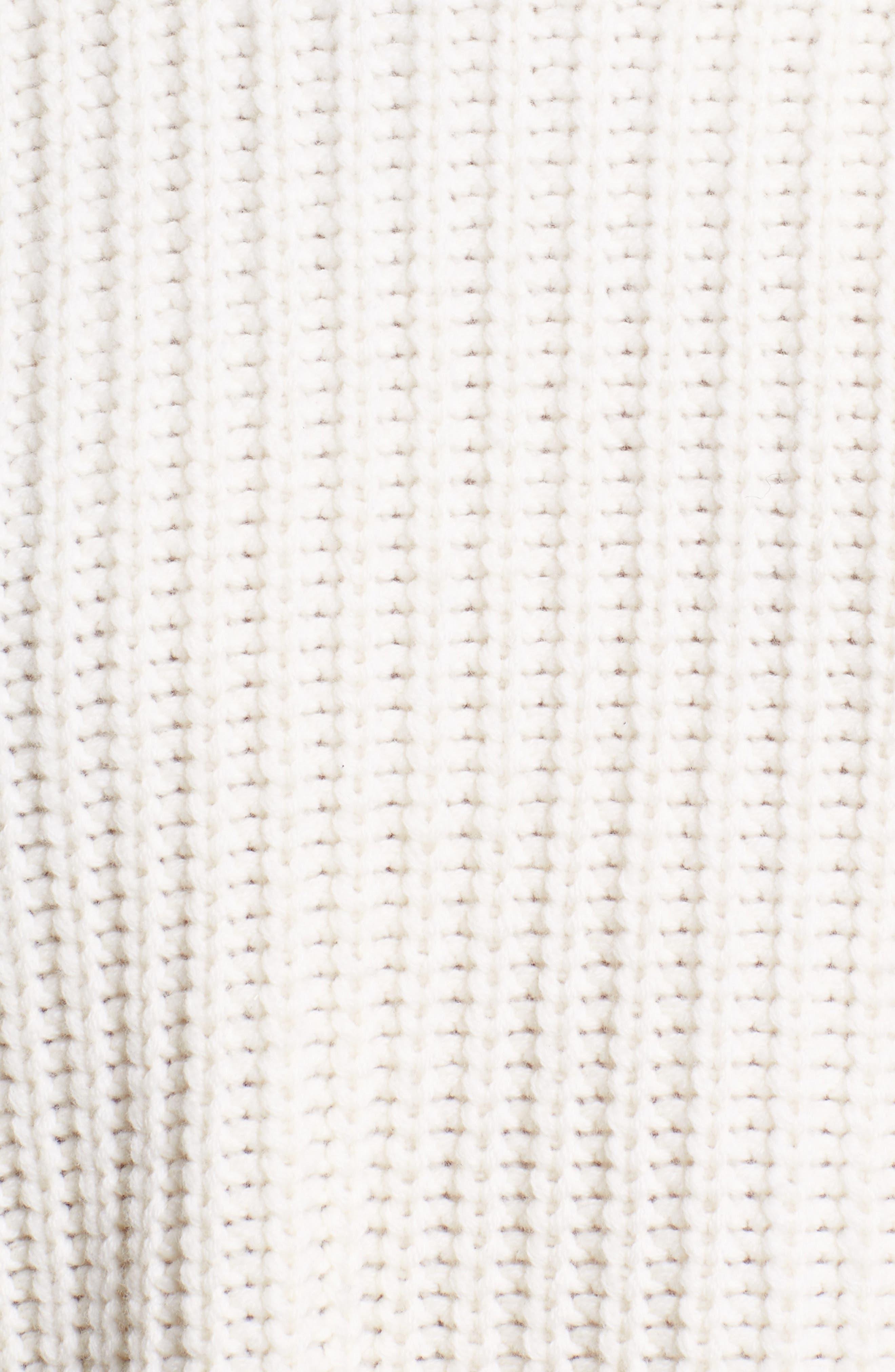 Alternate Image 5  - Sea Eyelet Puff Sleeve Sweater
