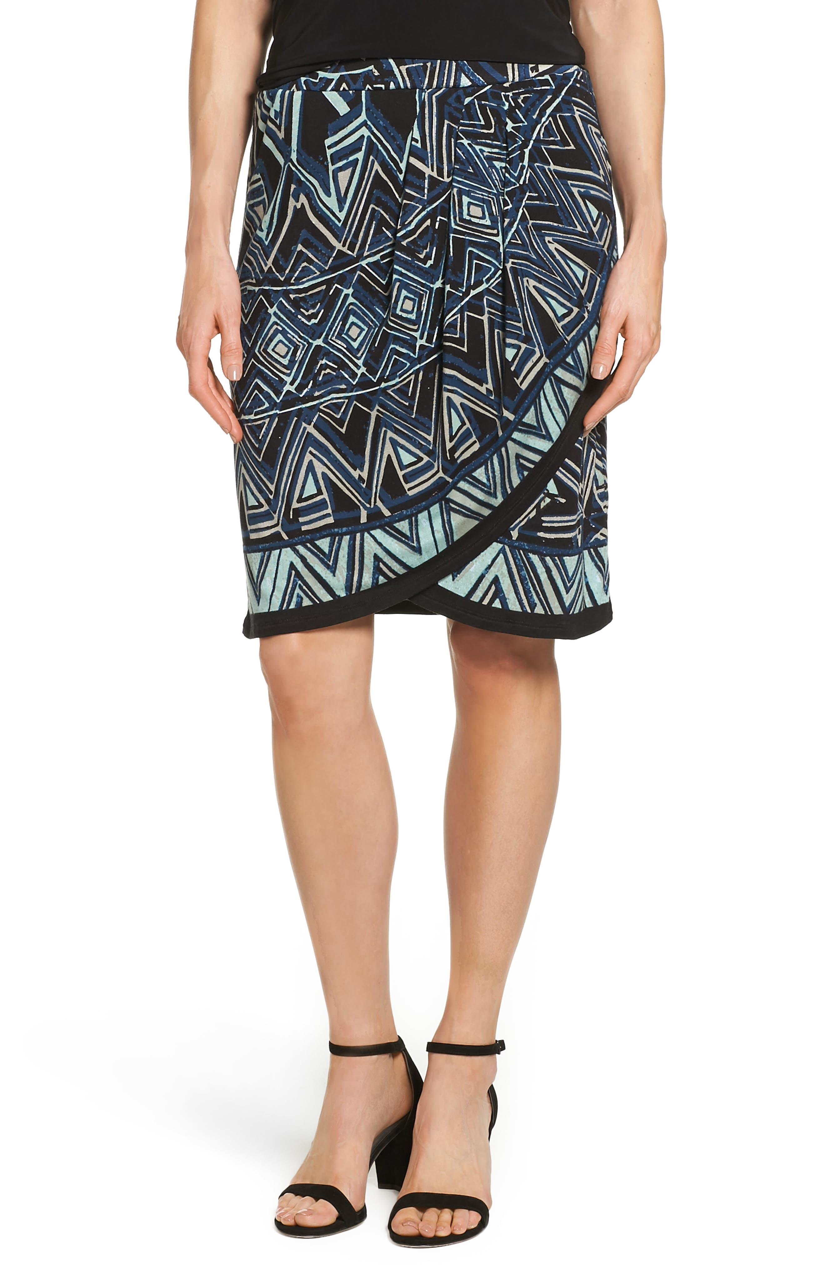 NIC+ZOE Beaming Faux Wrap Skirt (Regular & Petite)