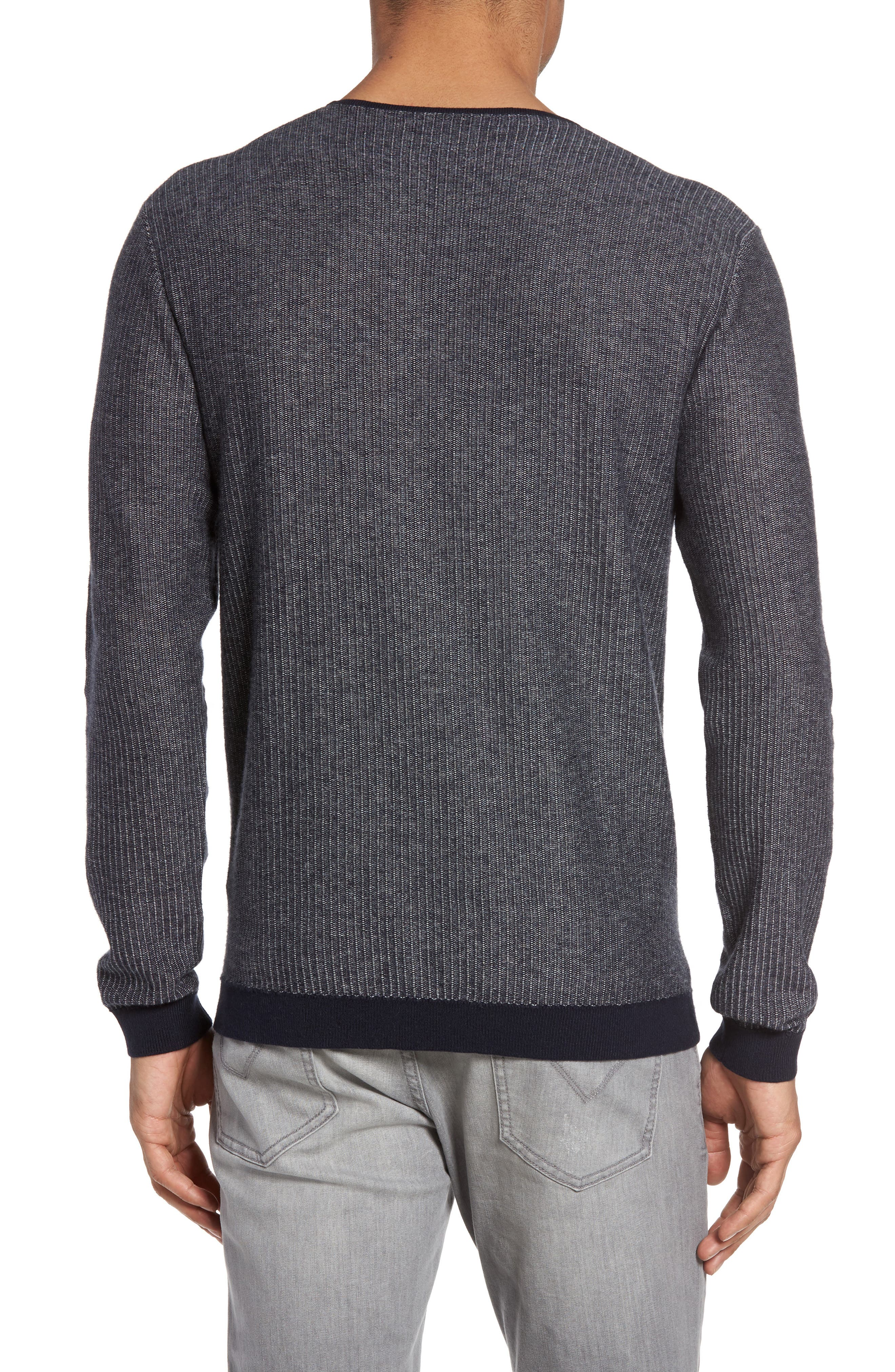 Cotton & Cashmere Sweater,                             Alternate thumbnail 2, color,                             Midnight