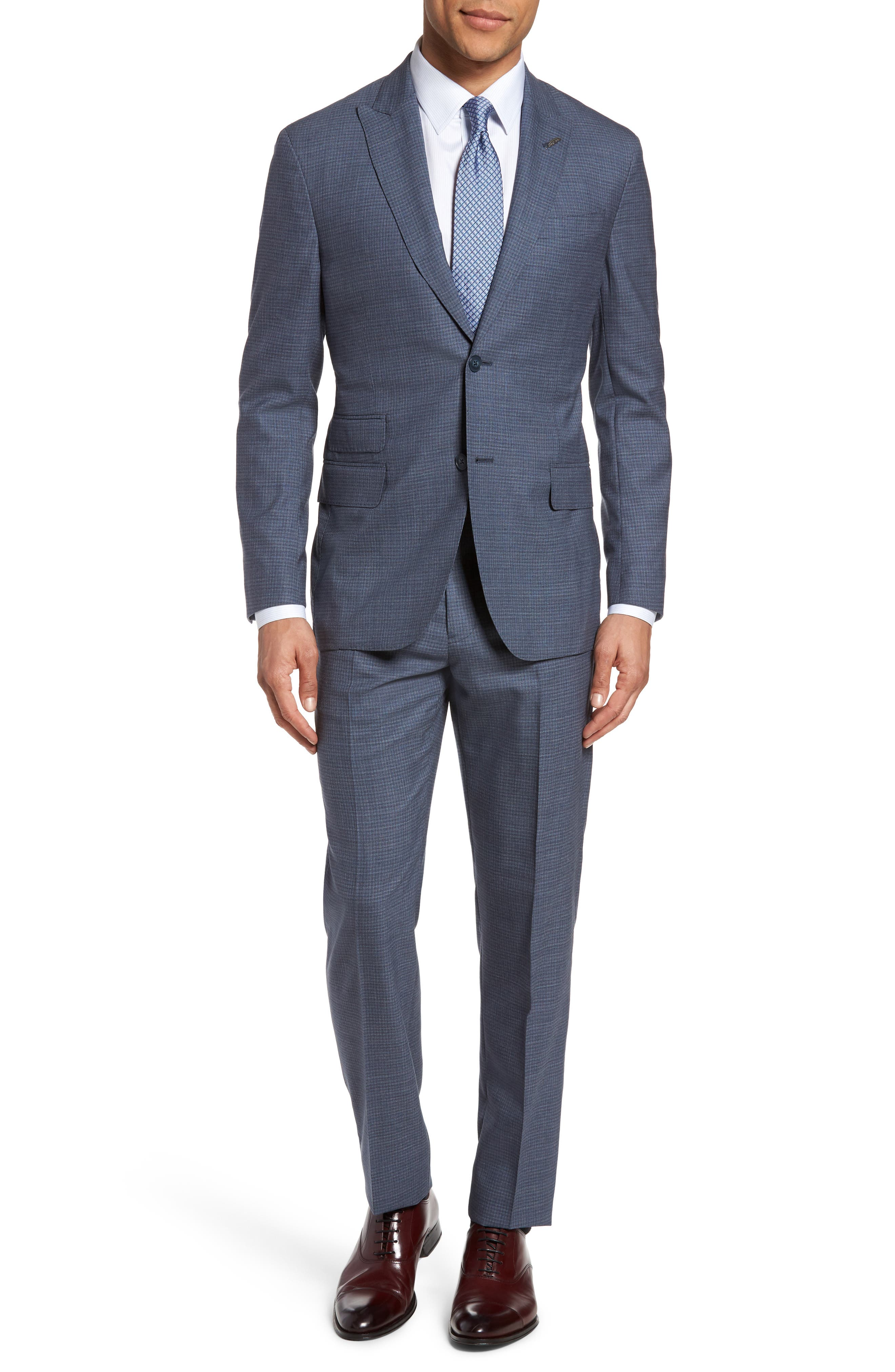 Main Image - Michael Bastian Classic Fit Check Wool Suit