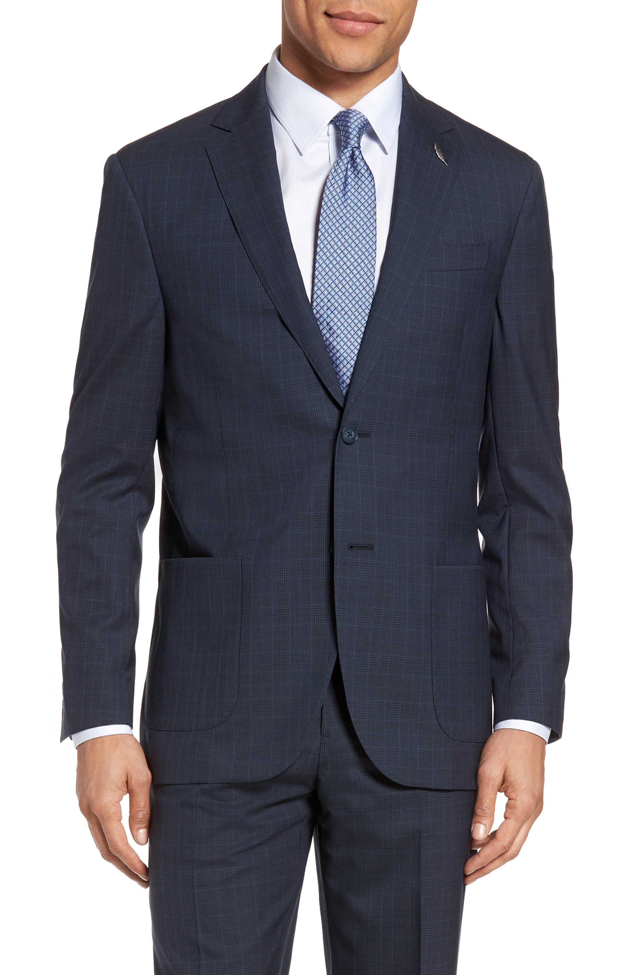 Alternate Image 5  - Michael Bastian Classic Fit Plaid Wool Suit