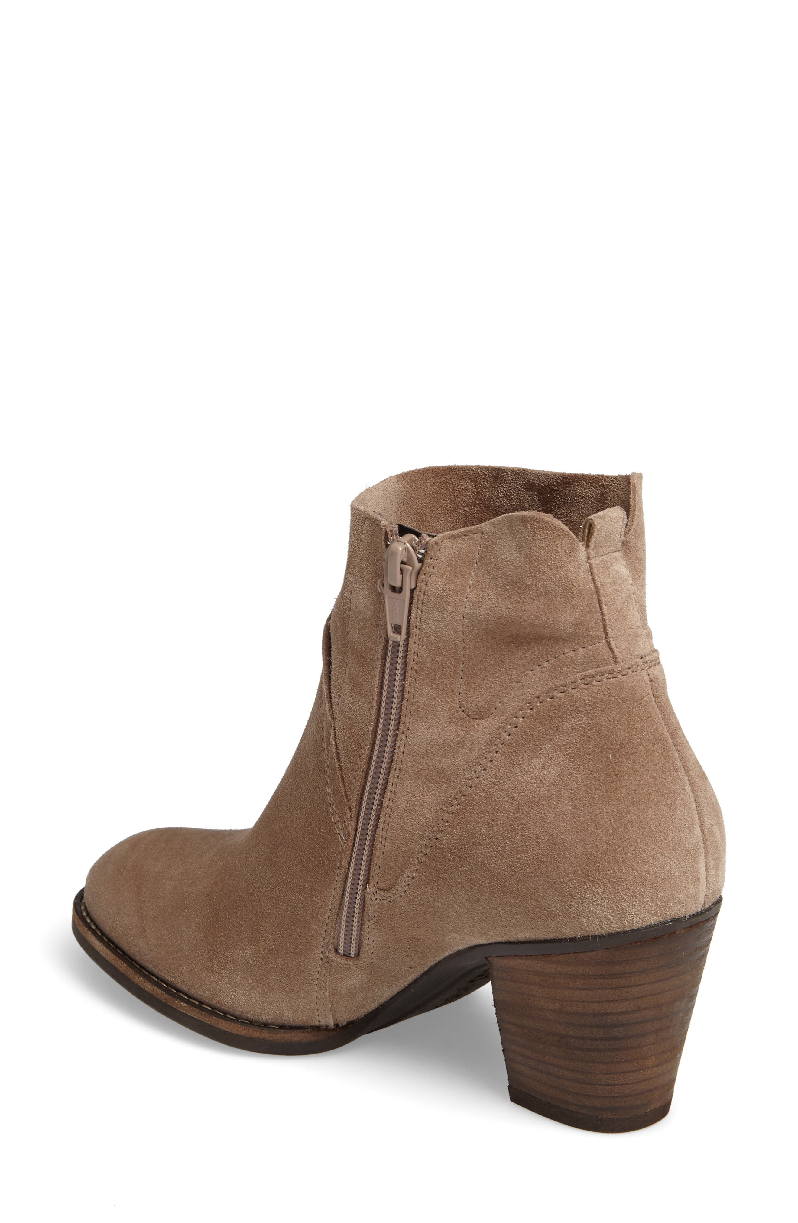 Nora Water Resistant Bootie,                             Alternate thumbnail 2, color,                             Antelope Hydro Suede