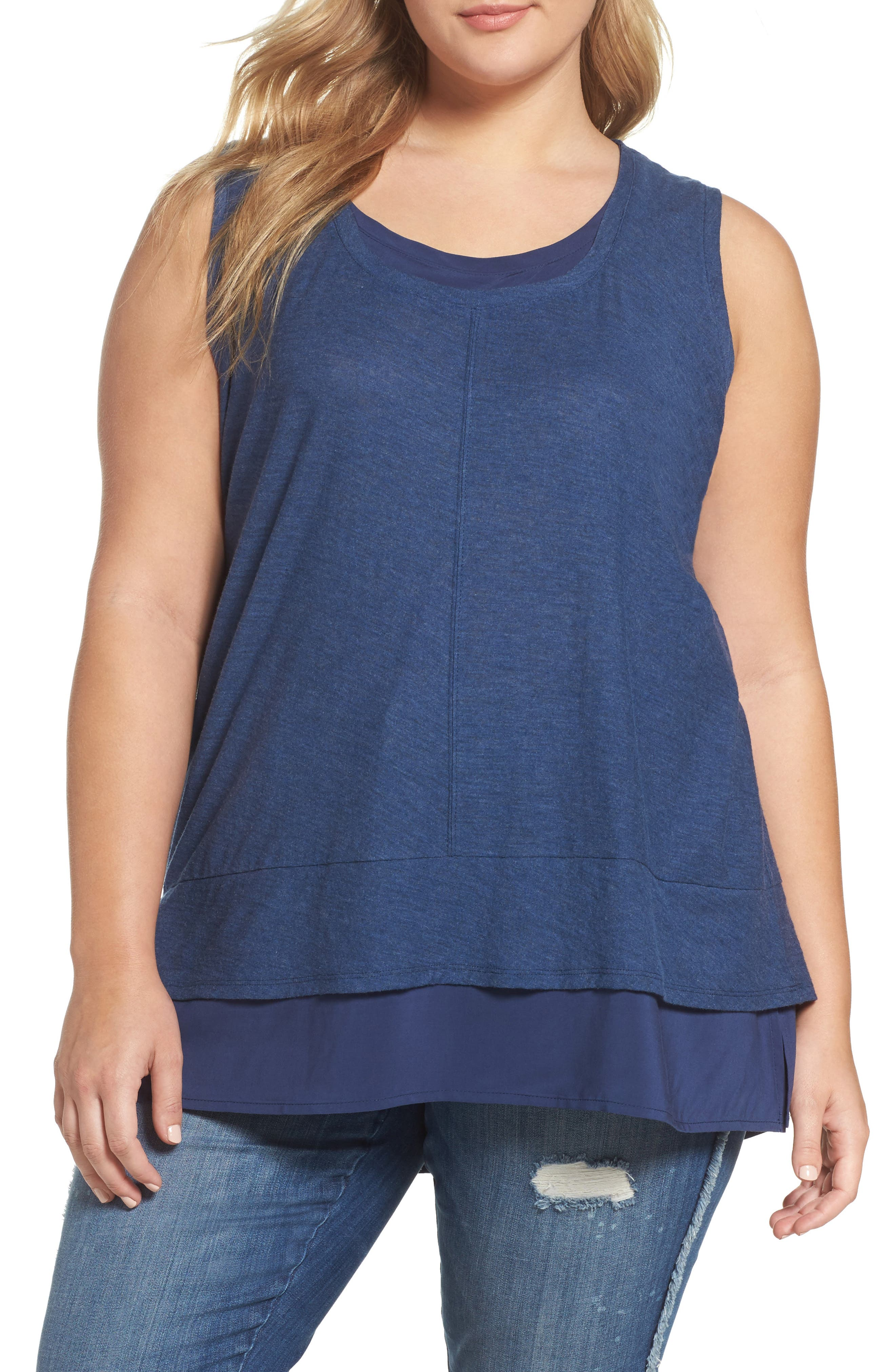 Two by Vince Camuto Layered Look Top (Plus Size)