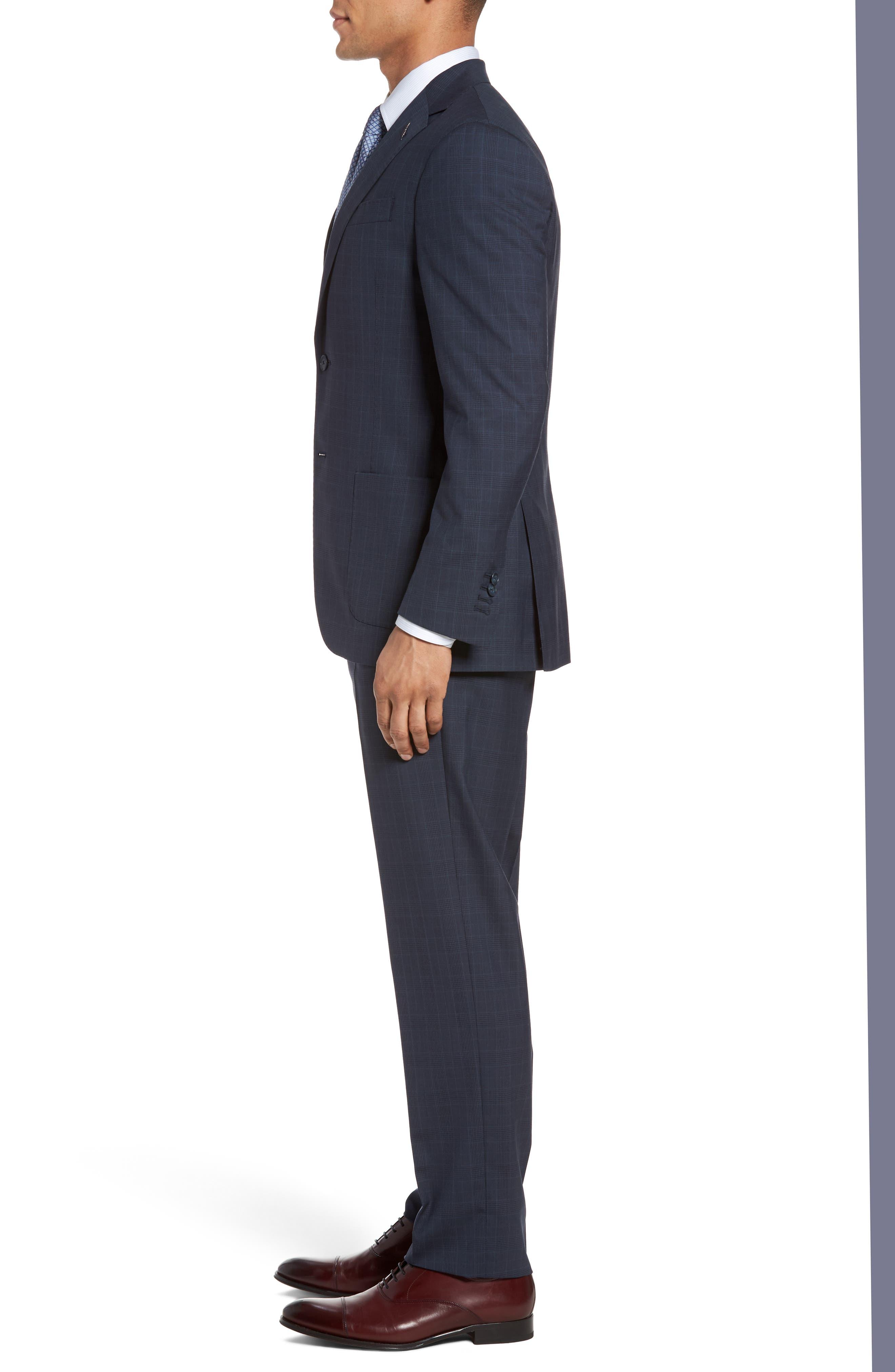Alternate Image 3  - Michael Bastian Classic Fit Plaid Wool Suit