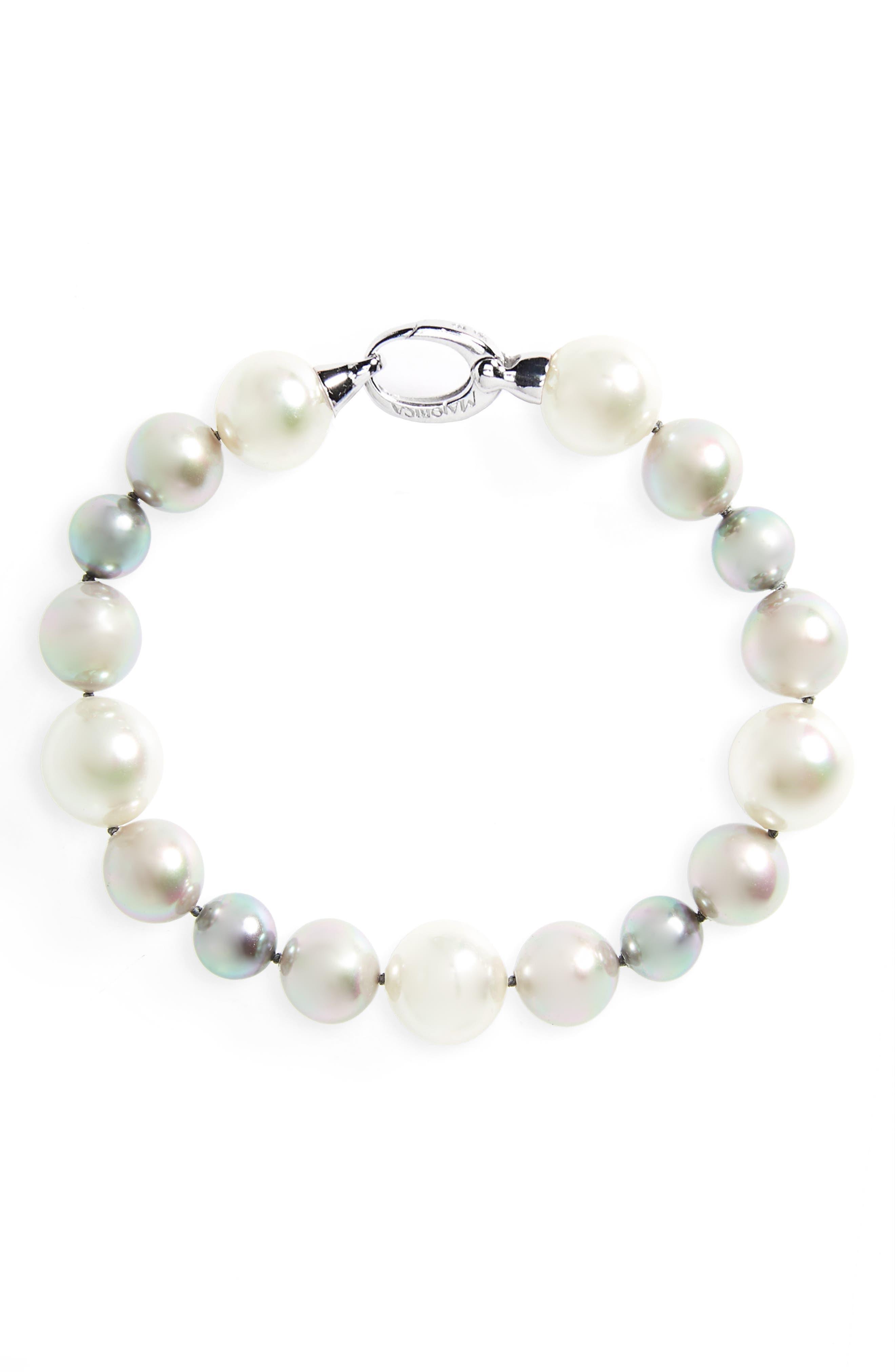 Alternate Image 1 Selected - Majorica Simulated Pearl Strand Bracelet