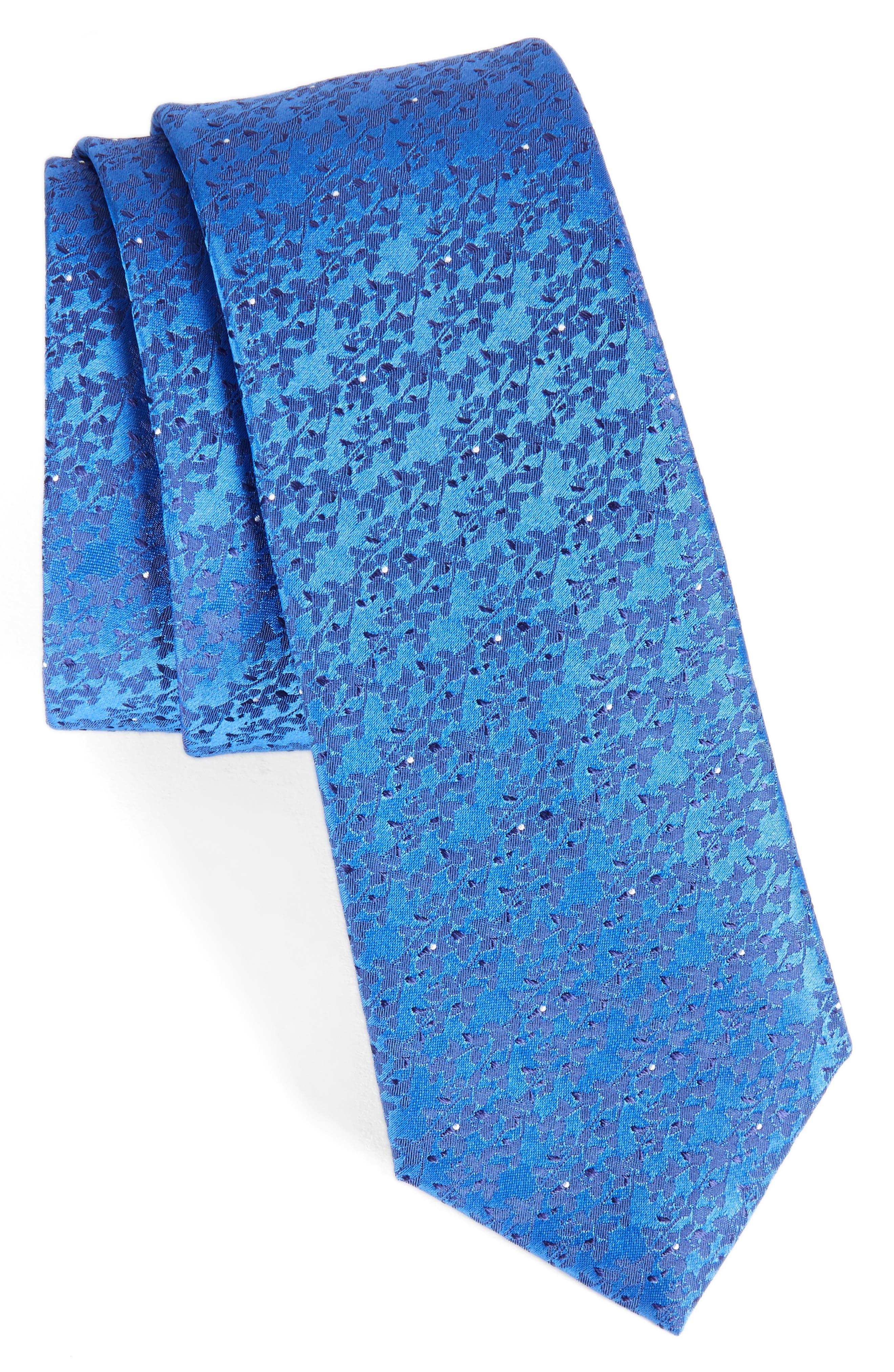 Mini Wild Flower Silk Tie,                         Main,                         color, Blue