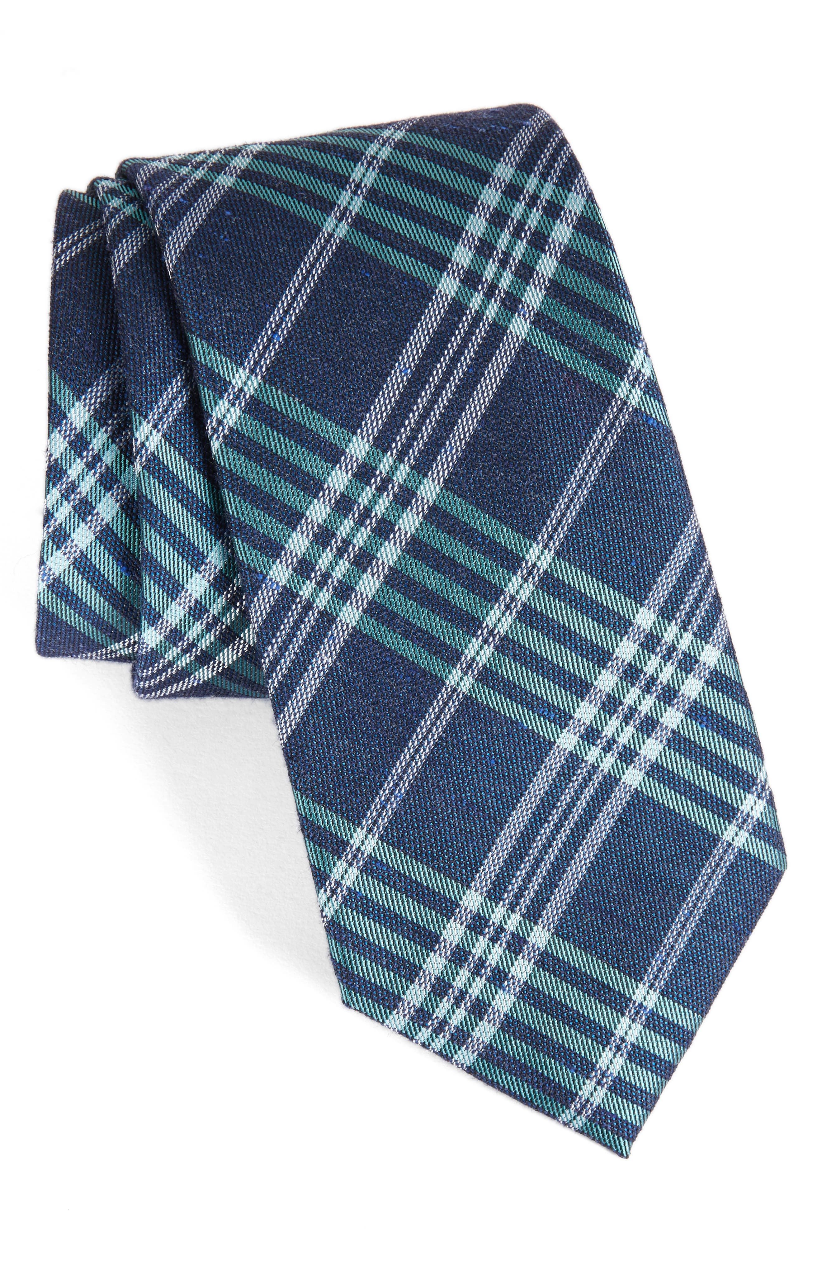 Calibrate School Plaid Silk & Cotton Tie