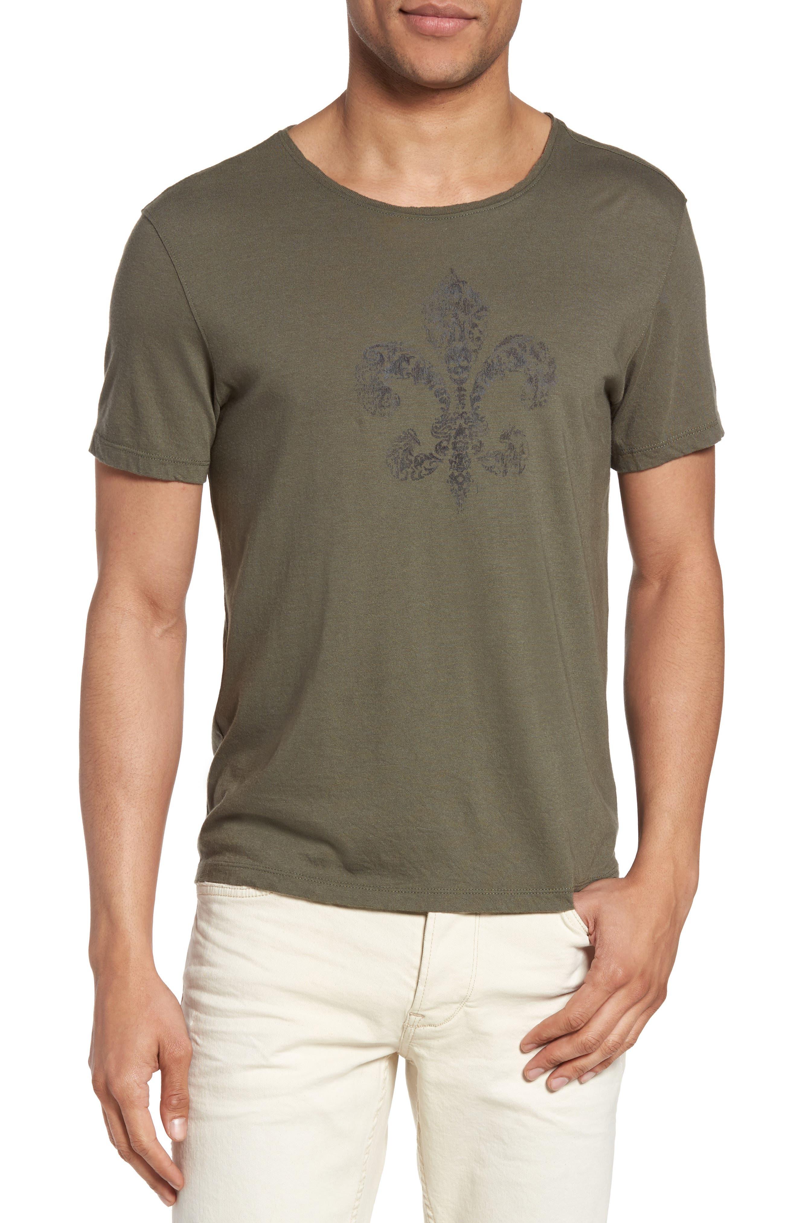 Fleur De Lis Graphic T-Shirt,                             Main thumbnail 1, color,                             Tent Green