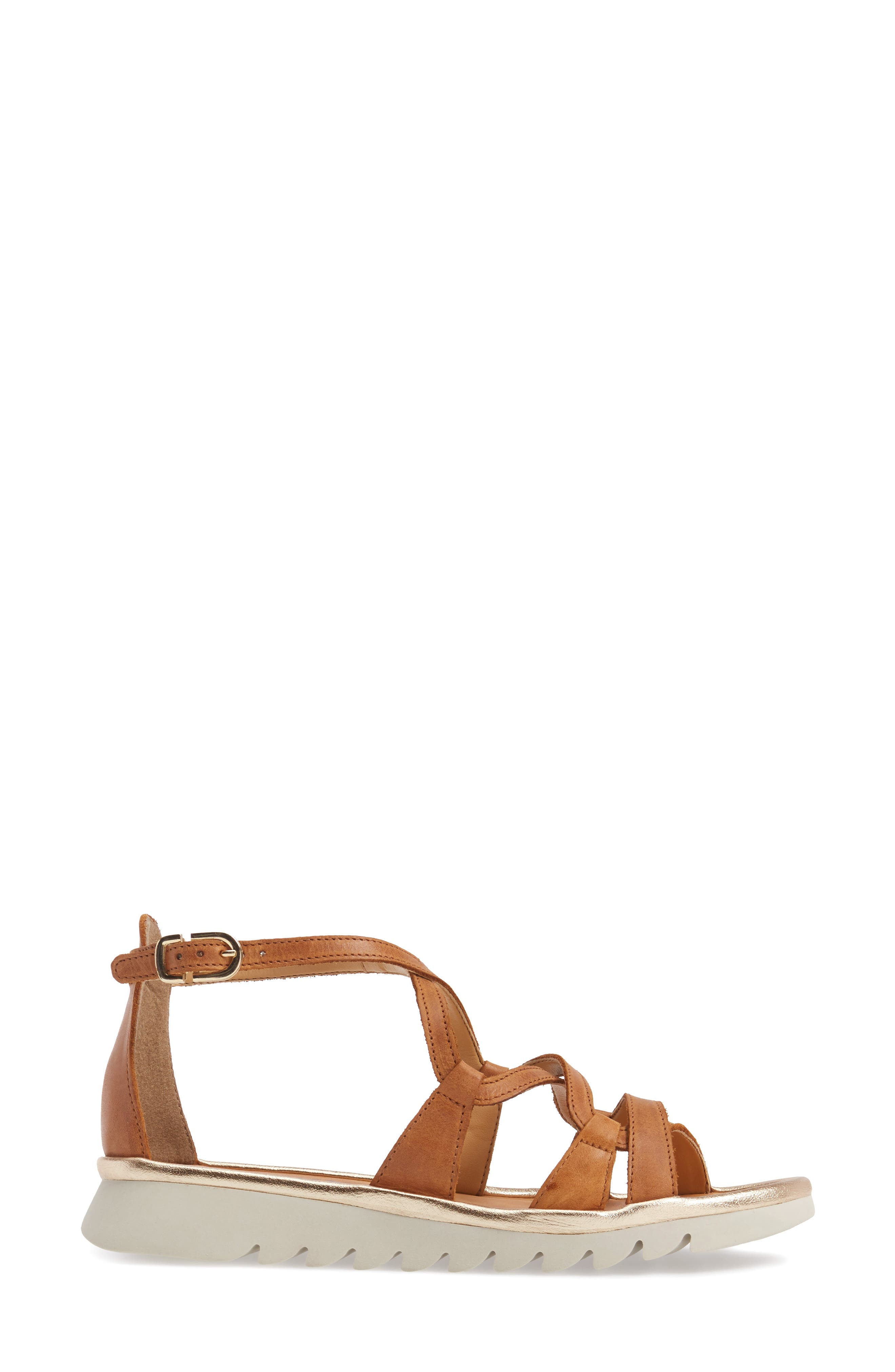 Catch a Wave Sandal,                             Alternate thumbnail 3, color,                             Cognac Leather