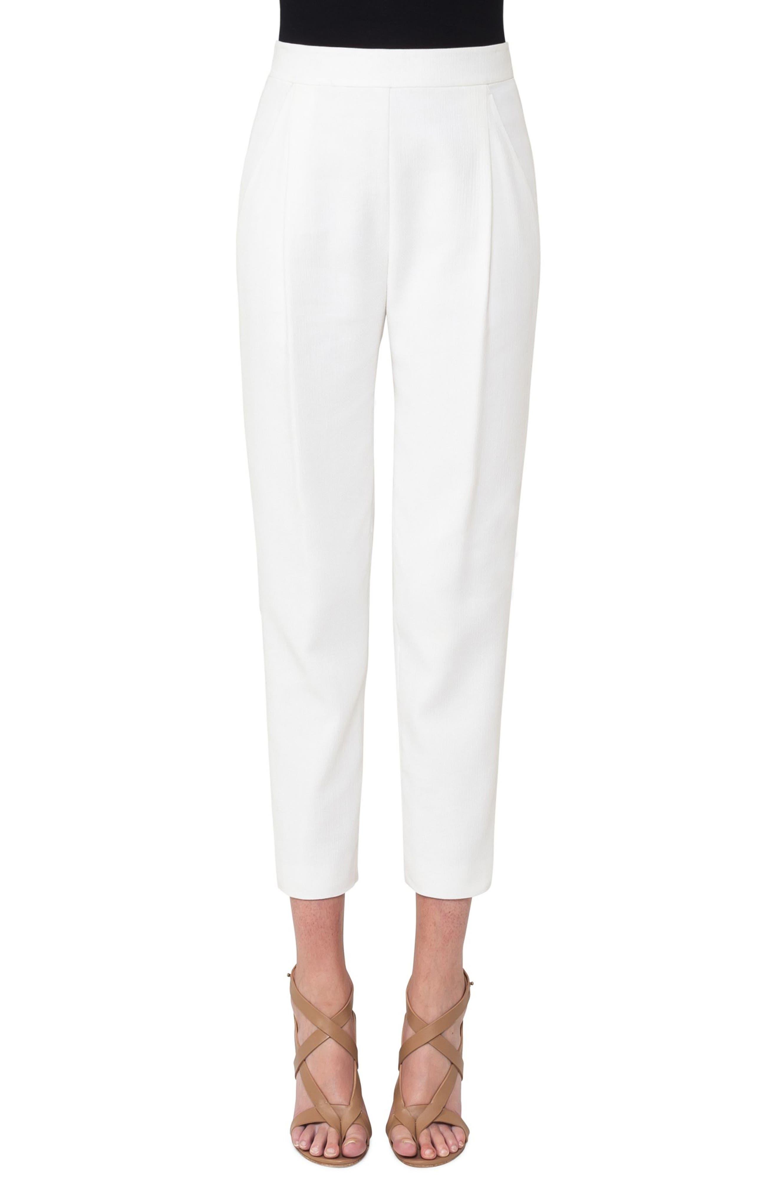 Fortuna Pleated Pants,                         Main,                         color, Cream