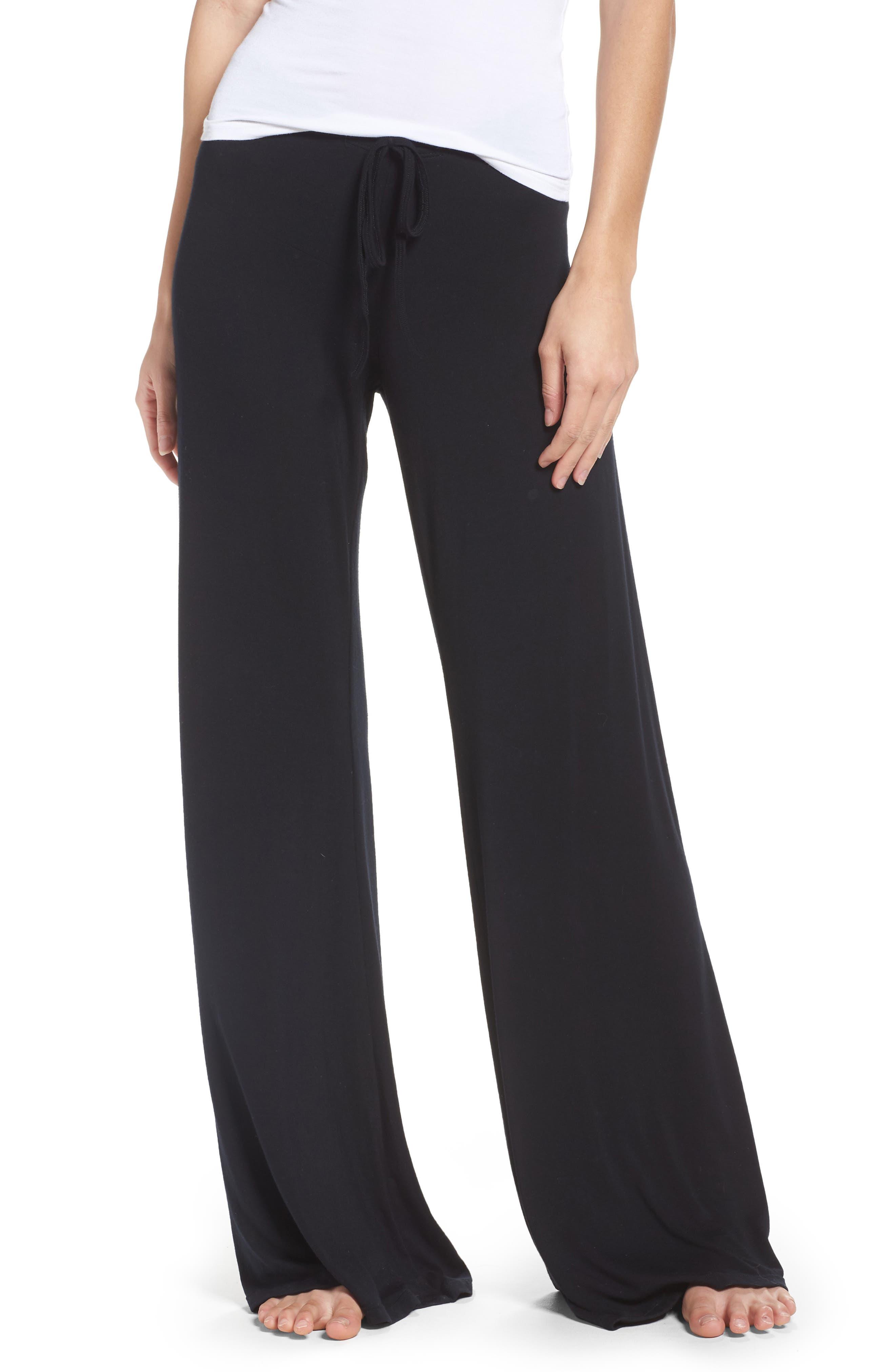 Golden Wide Leg Pants,                         Main,                         color, Black