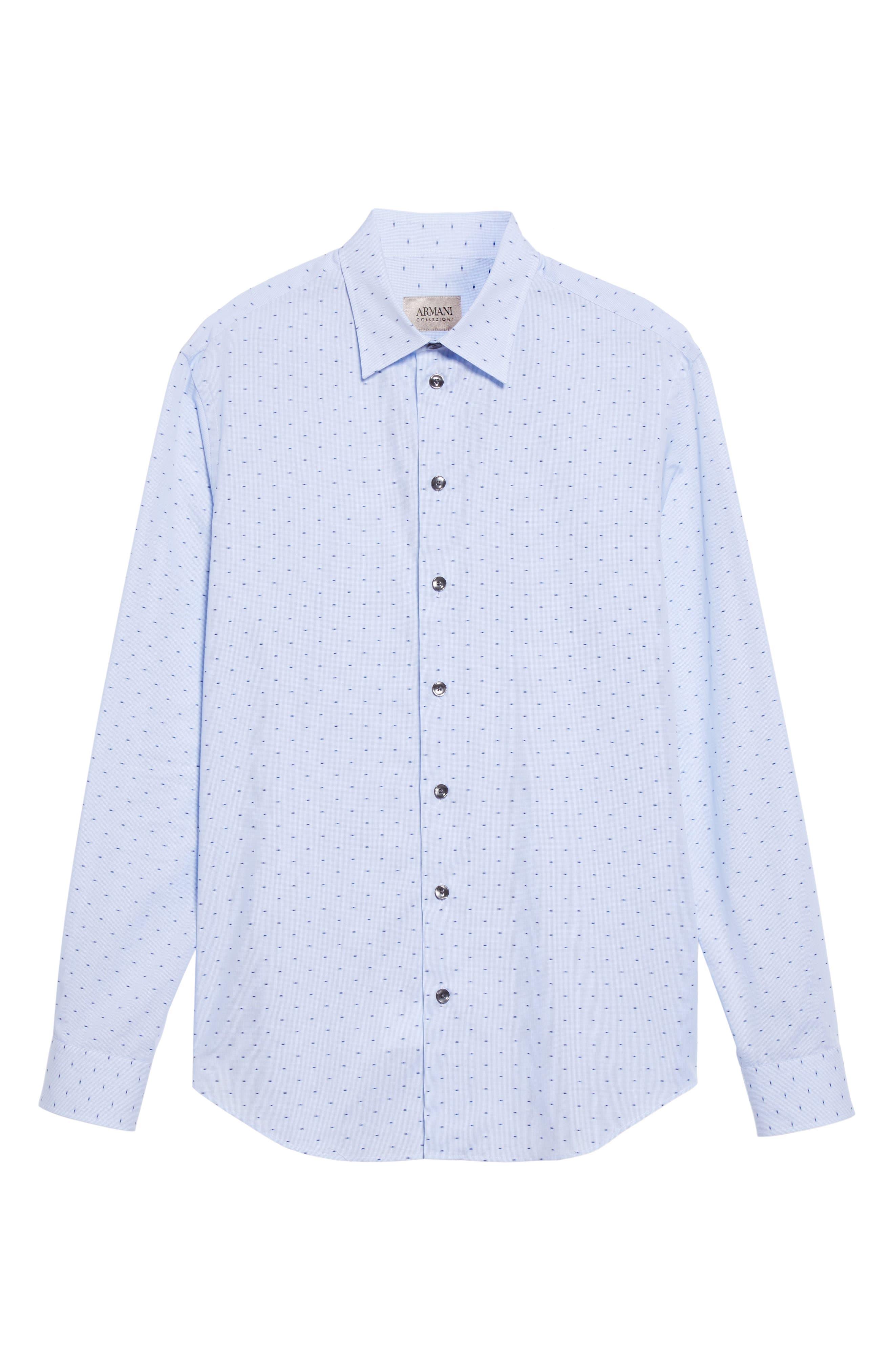 Regular Fit Print Sport Shirt,                             Alternate thumbnail 6, color,                             Blue