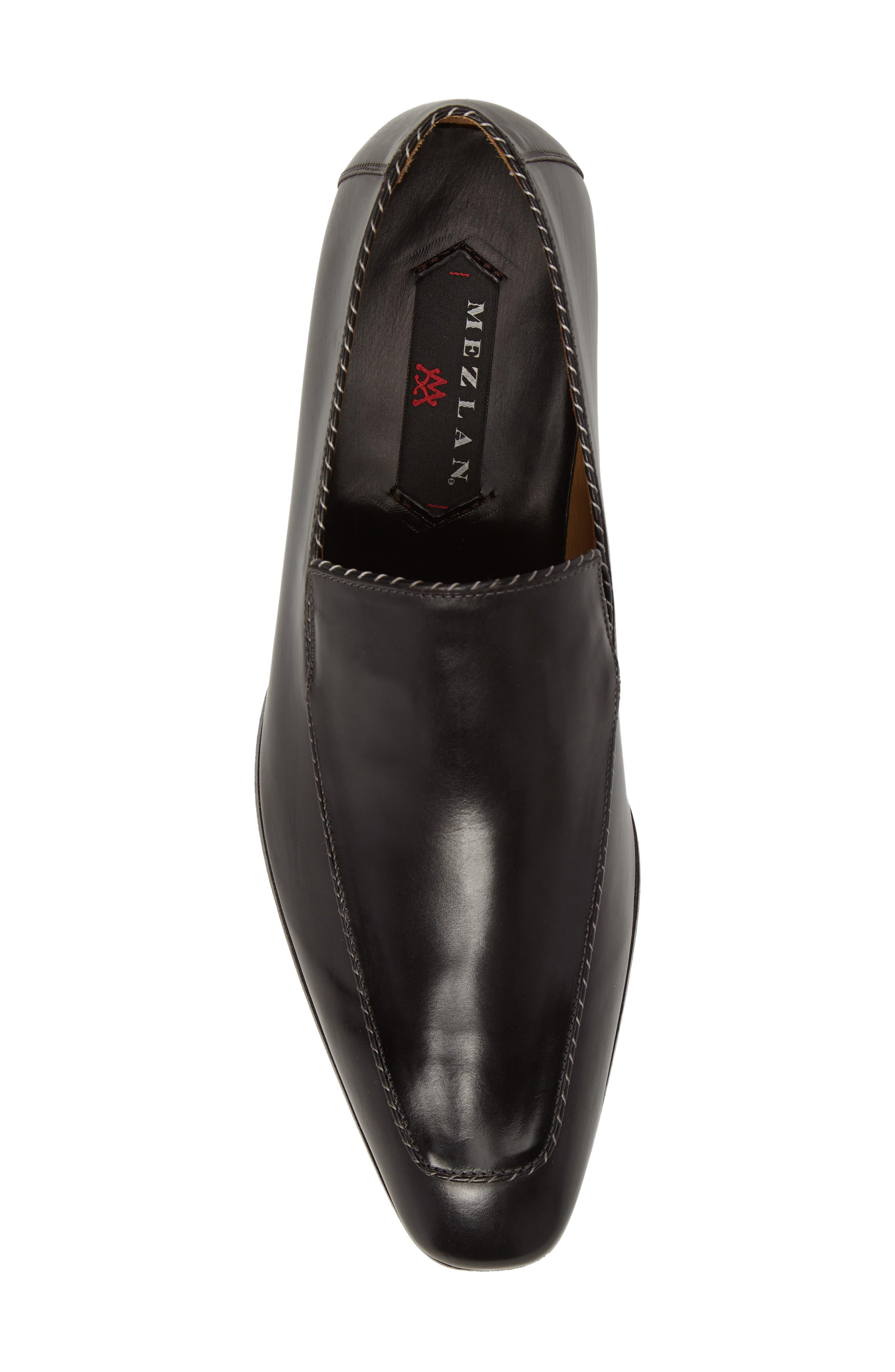 Brandt Venetian Loafer,                             Alternate thumbnail 5, color,                             Black Leather