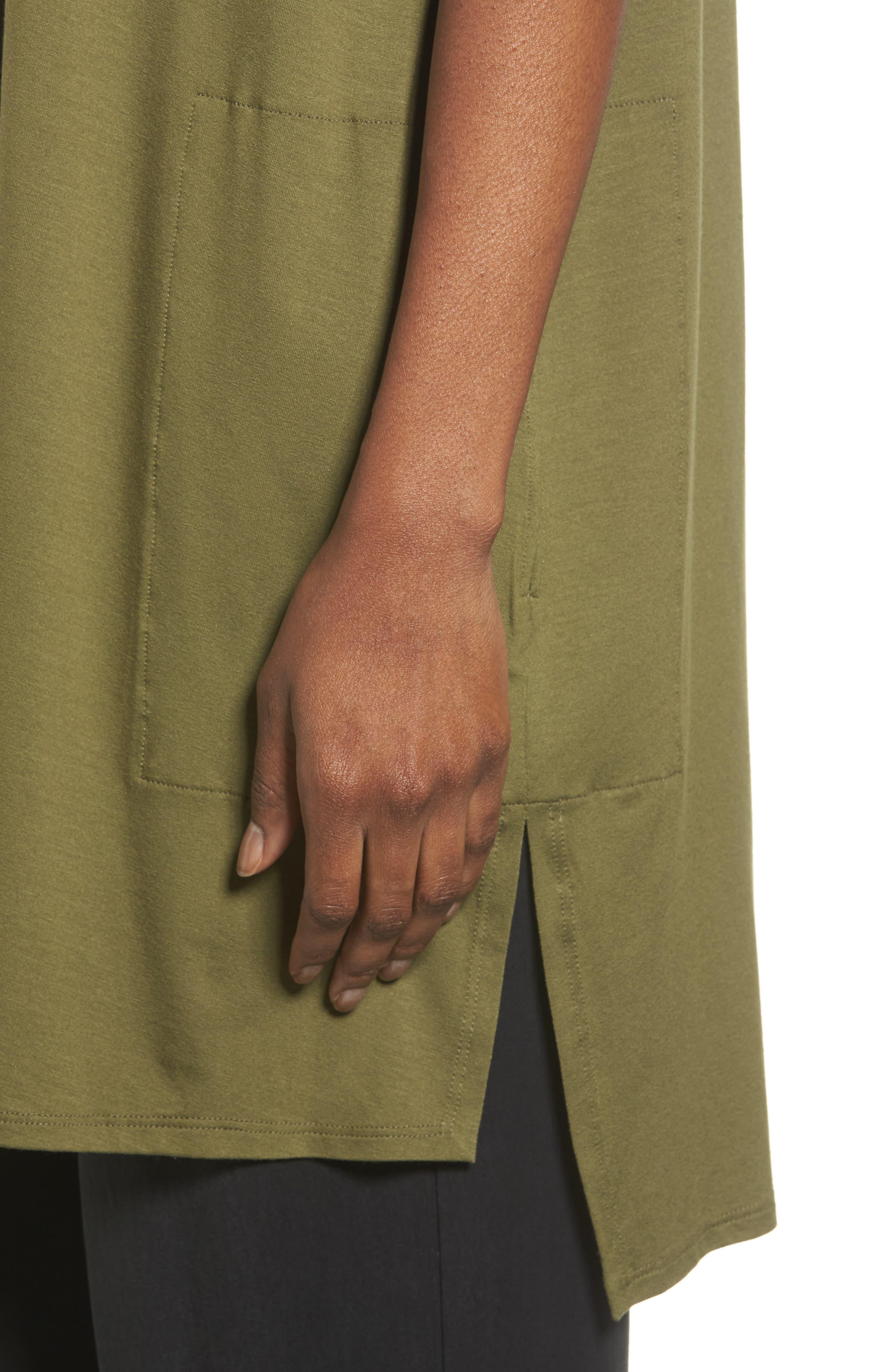 Alternate Image 4  - Eilen Fisher Long Jersey Vest