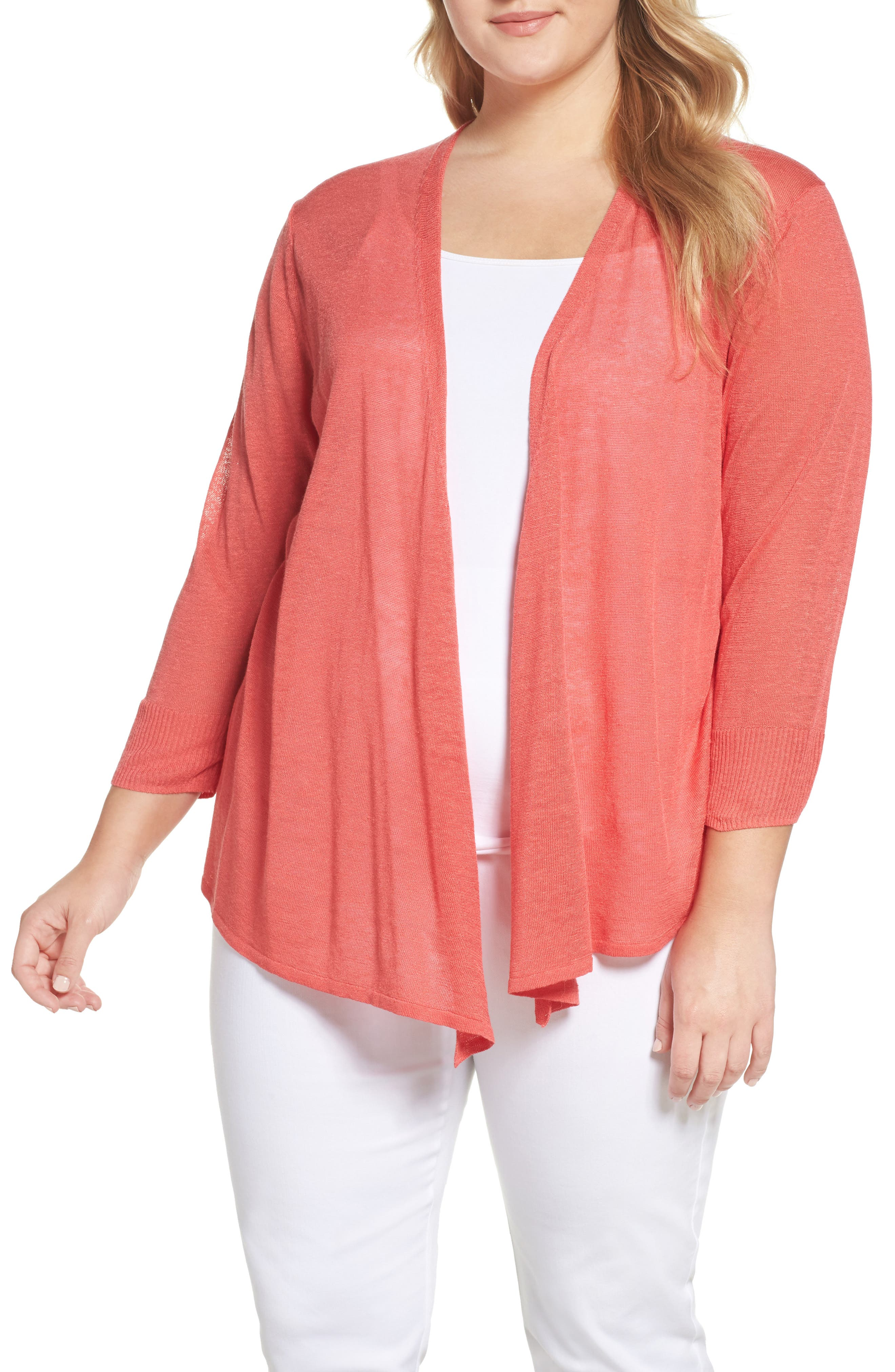 Alternate Image 1 Selected - NIC+ZOE Four-Way Convertible Cardigan (Plus Size)