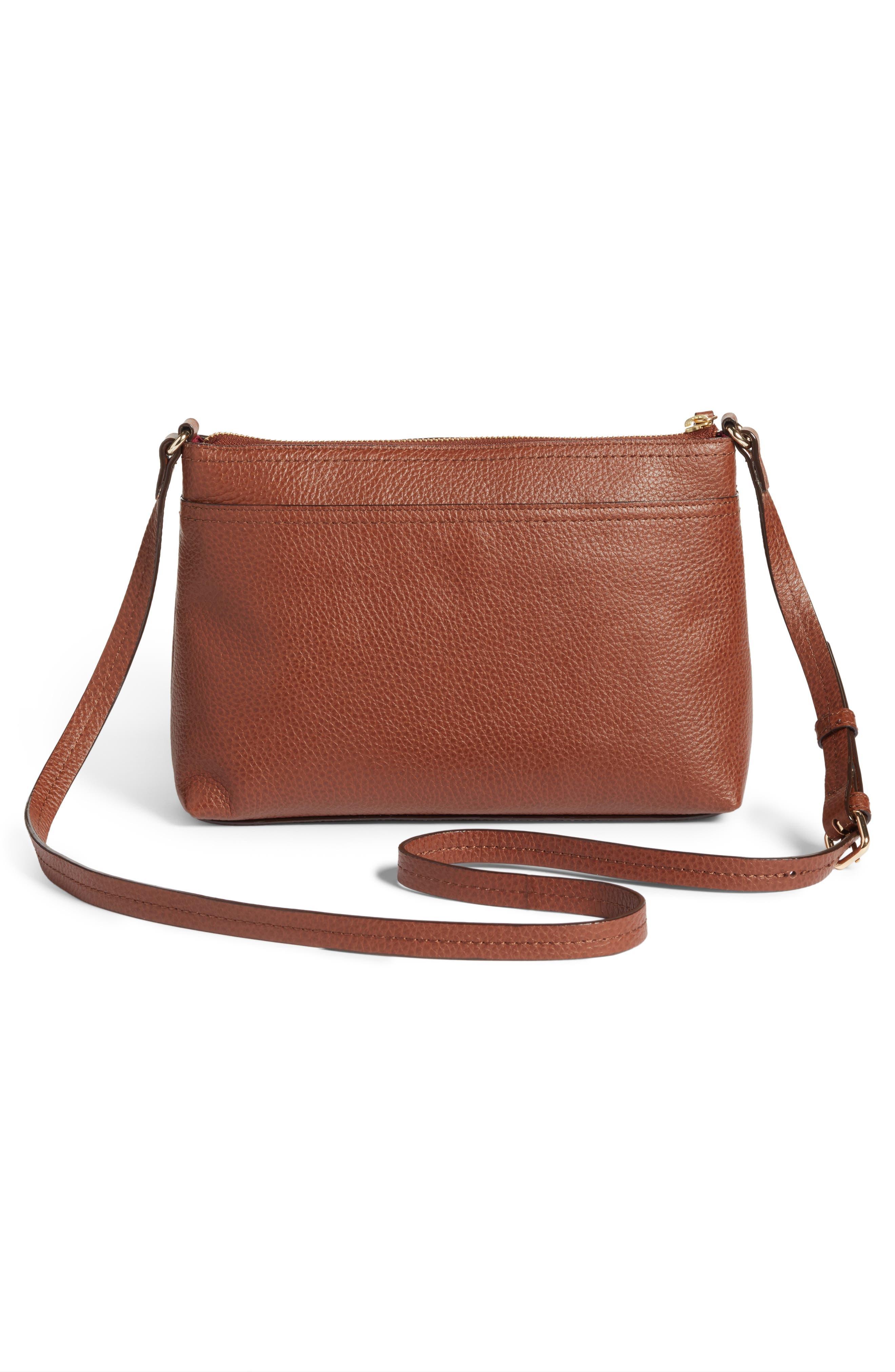 Alternate Image 3  - Nordstrom Pebbled Leather Crossbody Bag