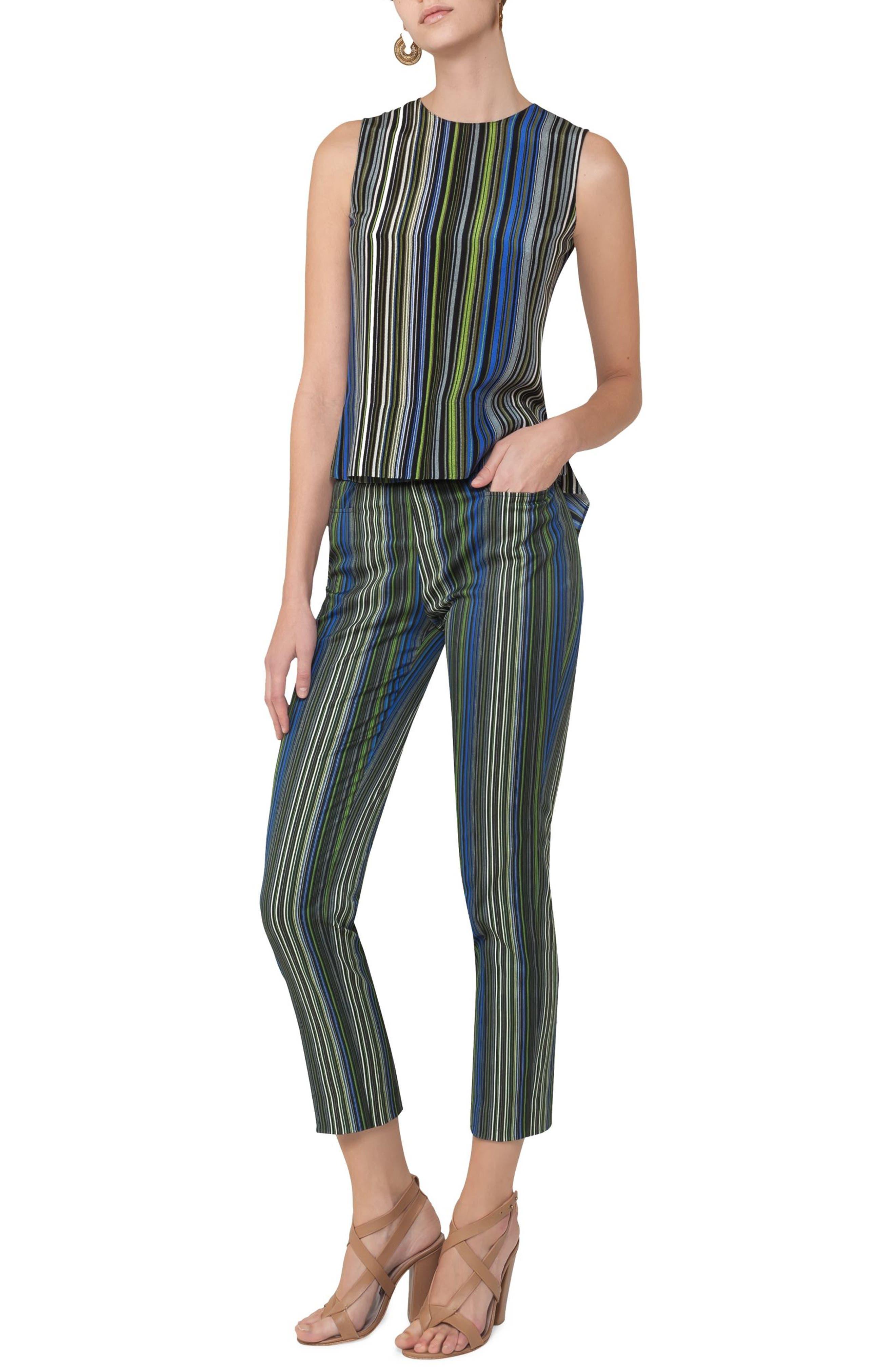 Paracas Stripe Silk Blouse,                             Alternate thumbnail 3, color,                             Multicolor Stripe