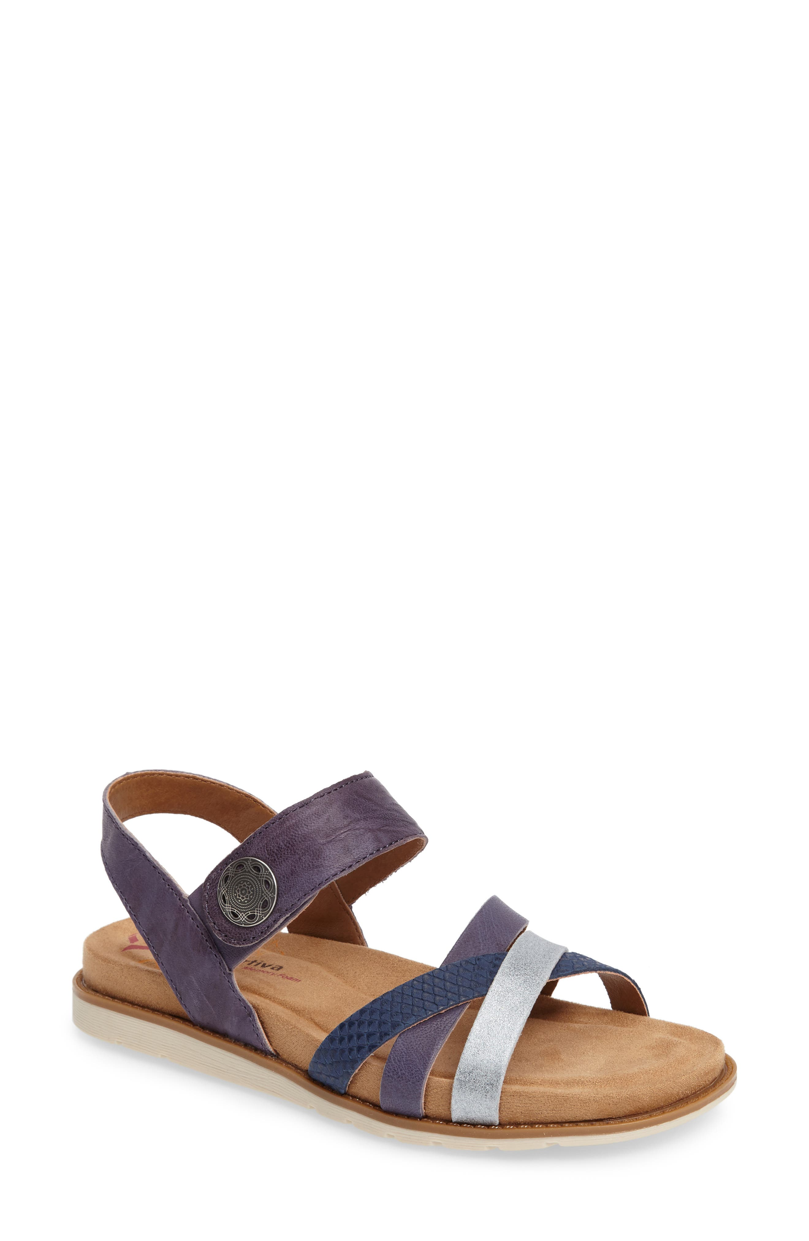 Alonsa Sandal,                         Main,                         color, Denim Leather