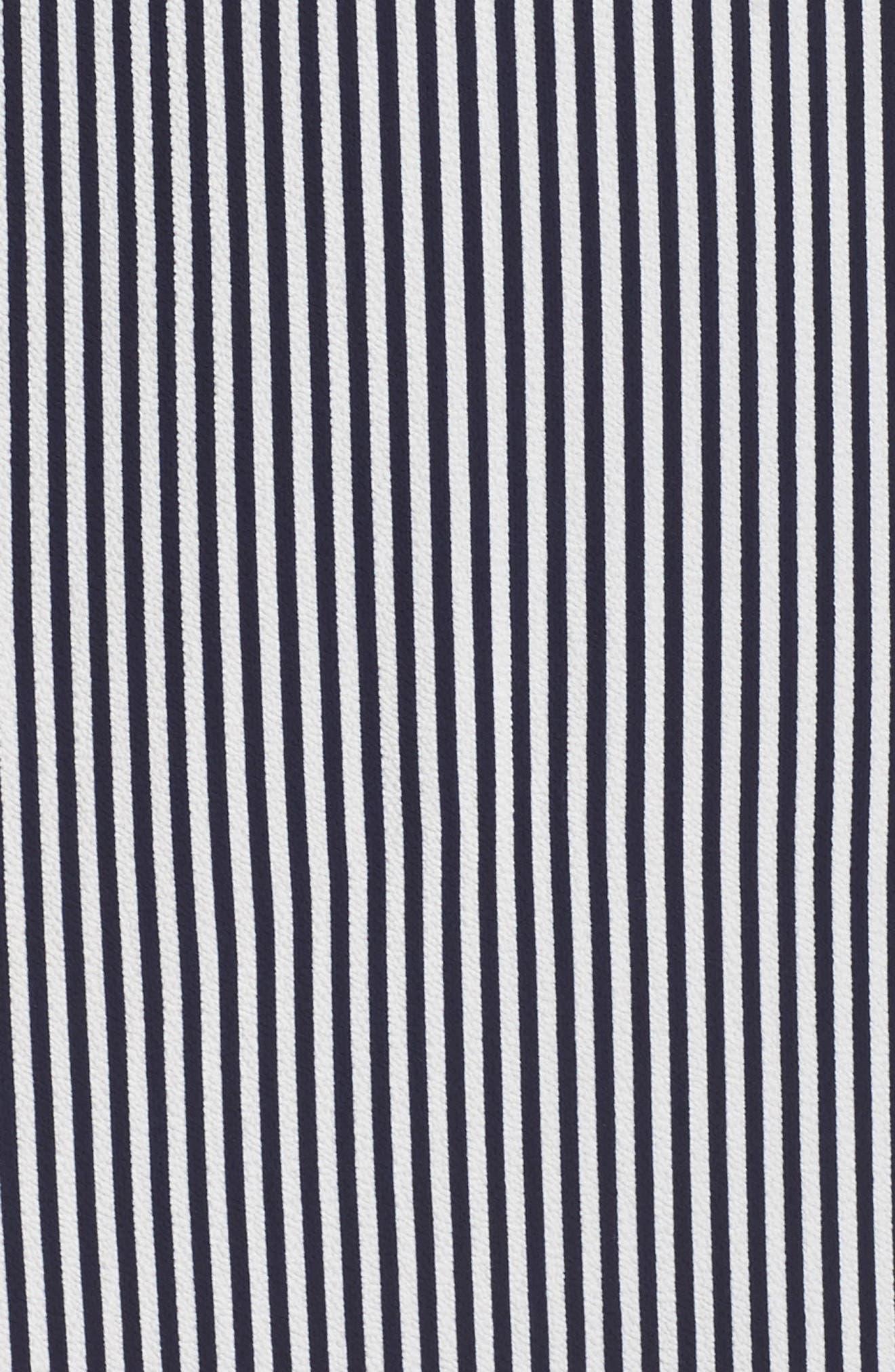 Stripe Stretch Maxi Dress,                             Alternate thumbnail 5, color,                             Navy