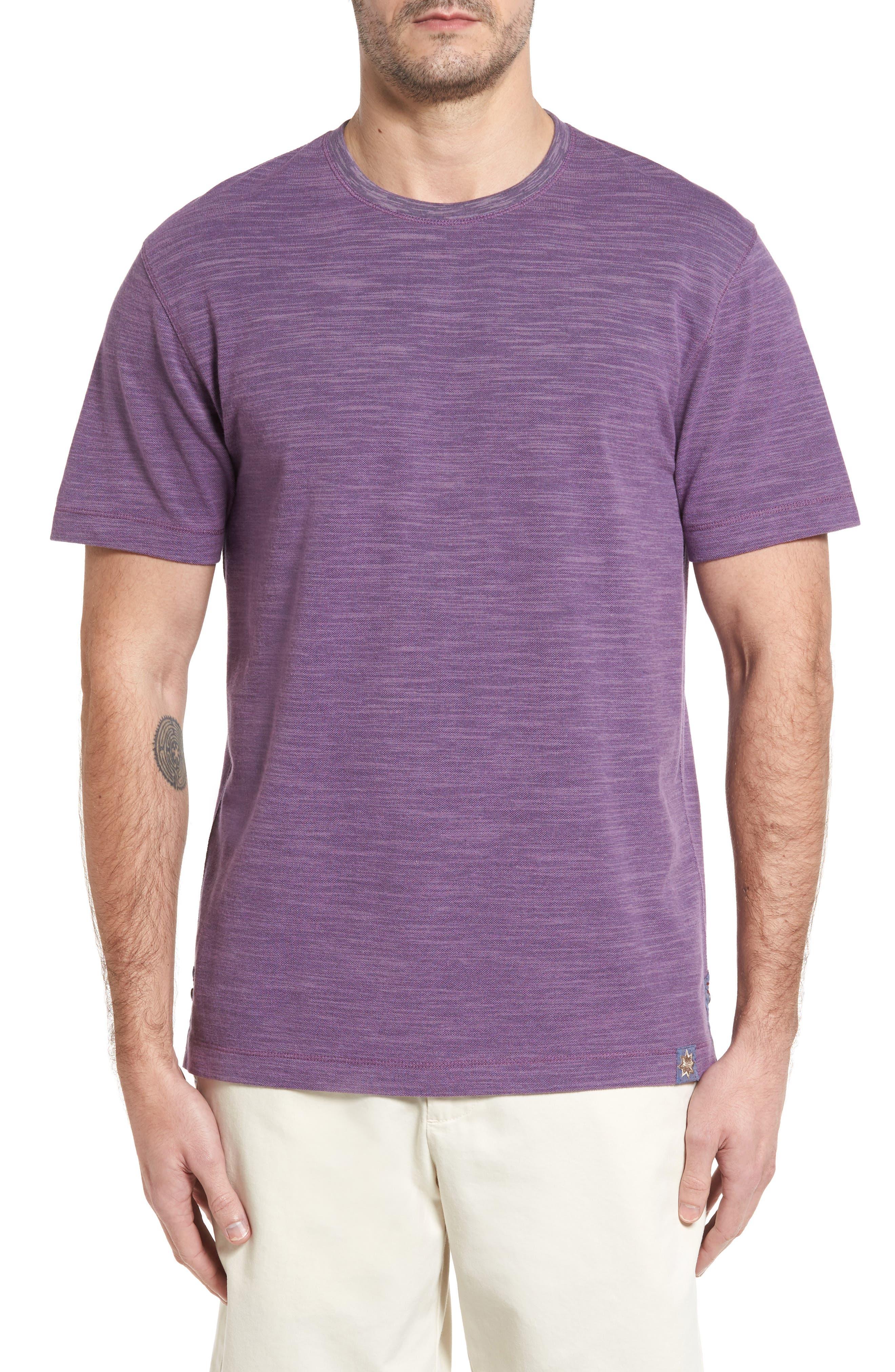 Paxton Space Dye Piqué T-Shirt,                             Main thumbnail 1, color,                             Purple