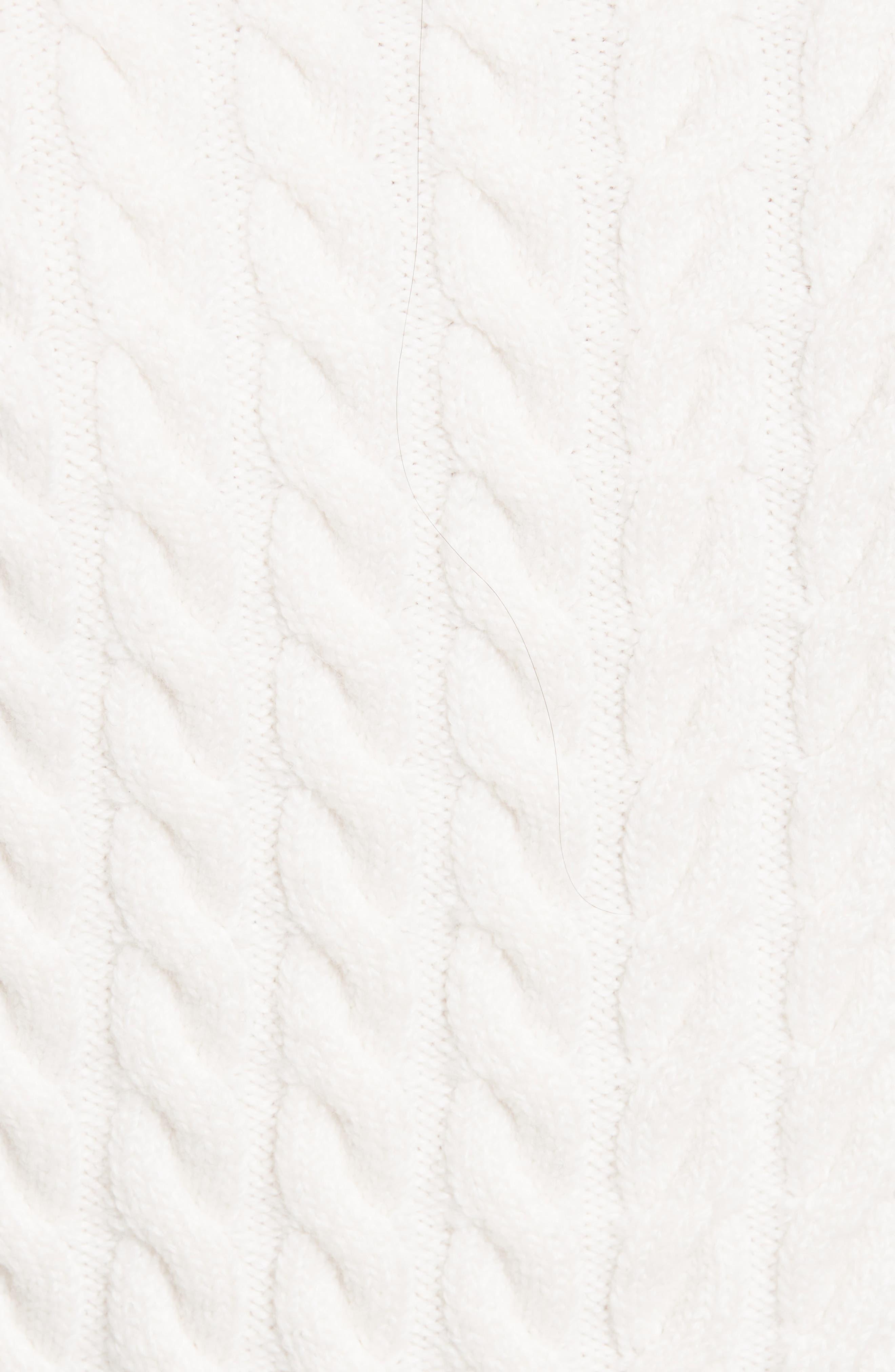 Alternate Image 5  - Ted Baker London Mereda Cable Knit Peplum Sweater