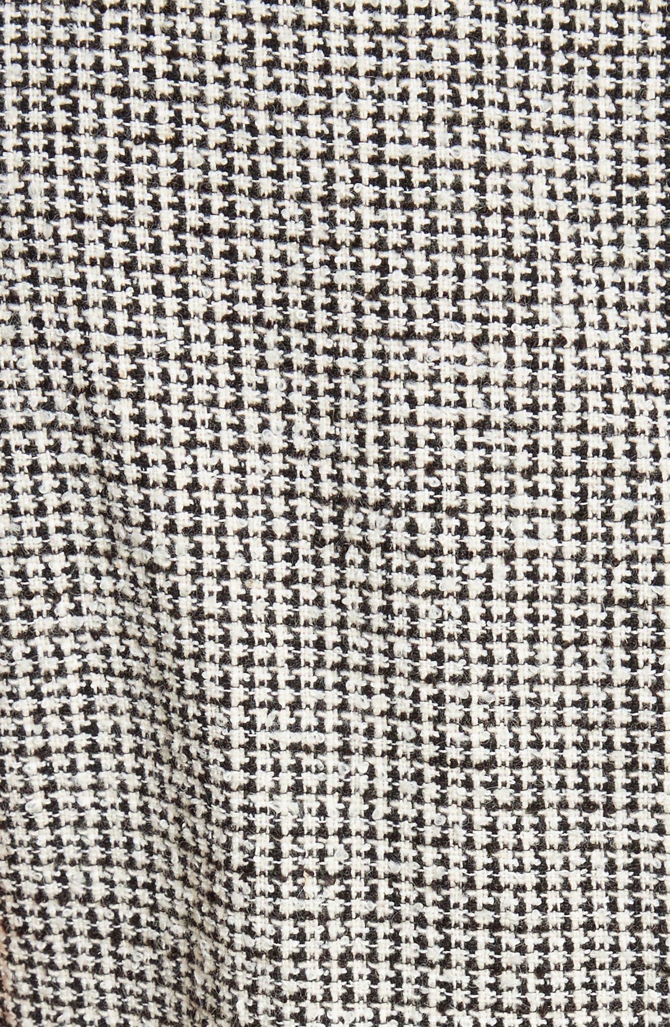 Coley Mock Neck Dress,                             Alternate thumbnail 5, color,                             Black/ White