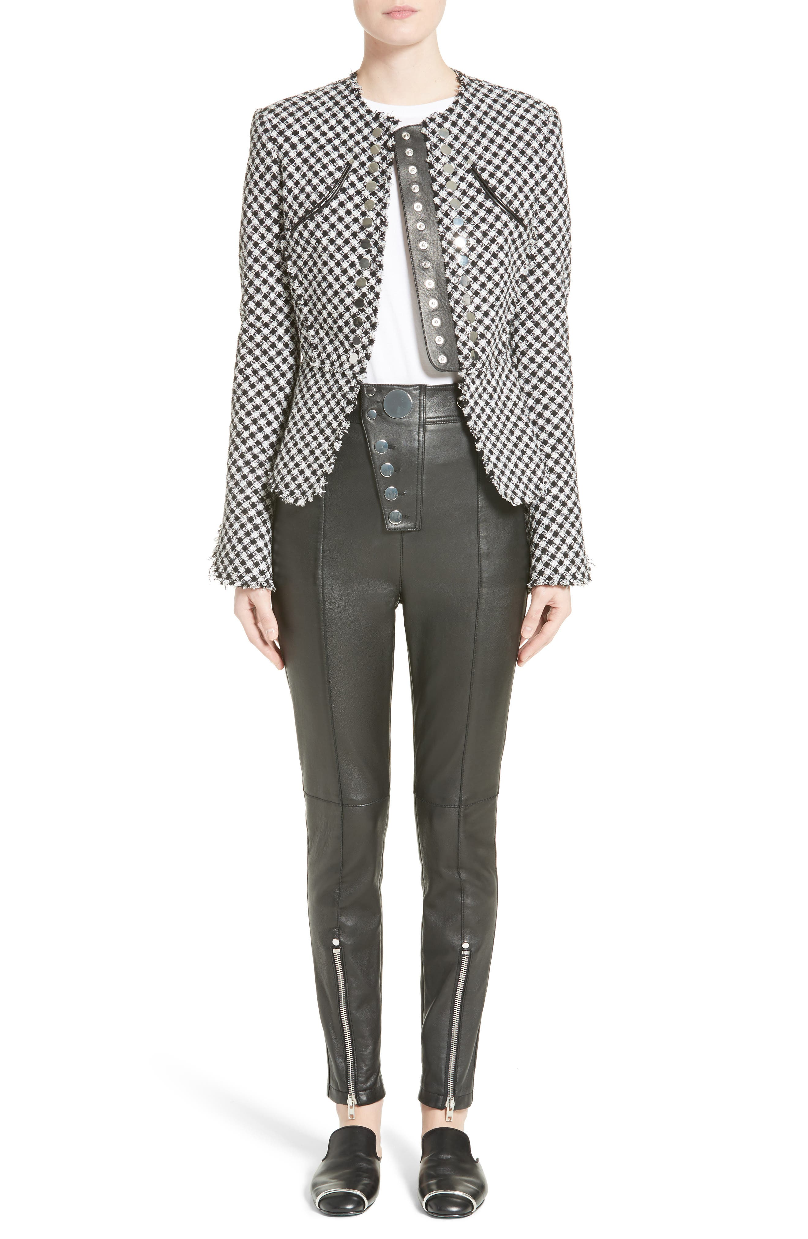 Alternate Image 7  - Alexander Wang Check Tweed Peplum Jacket